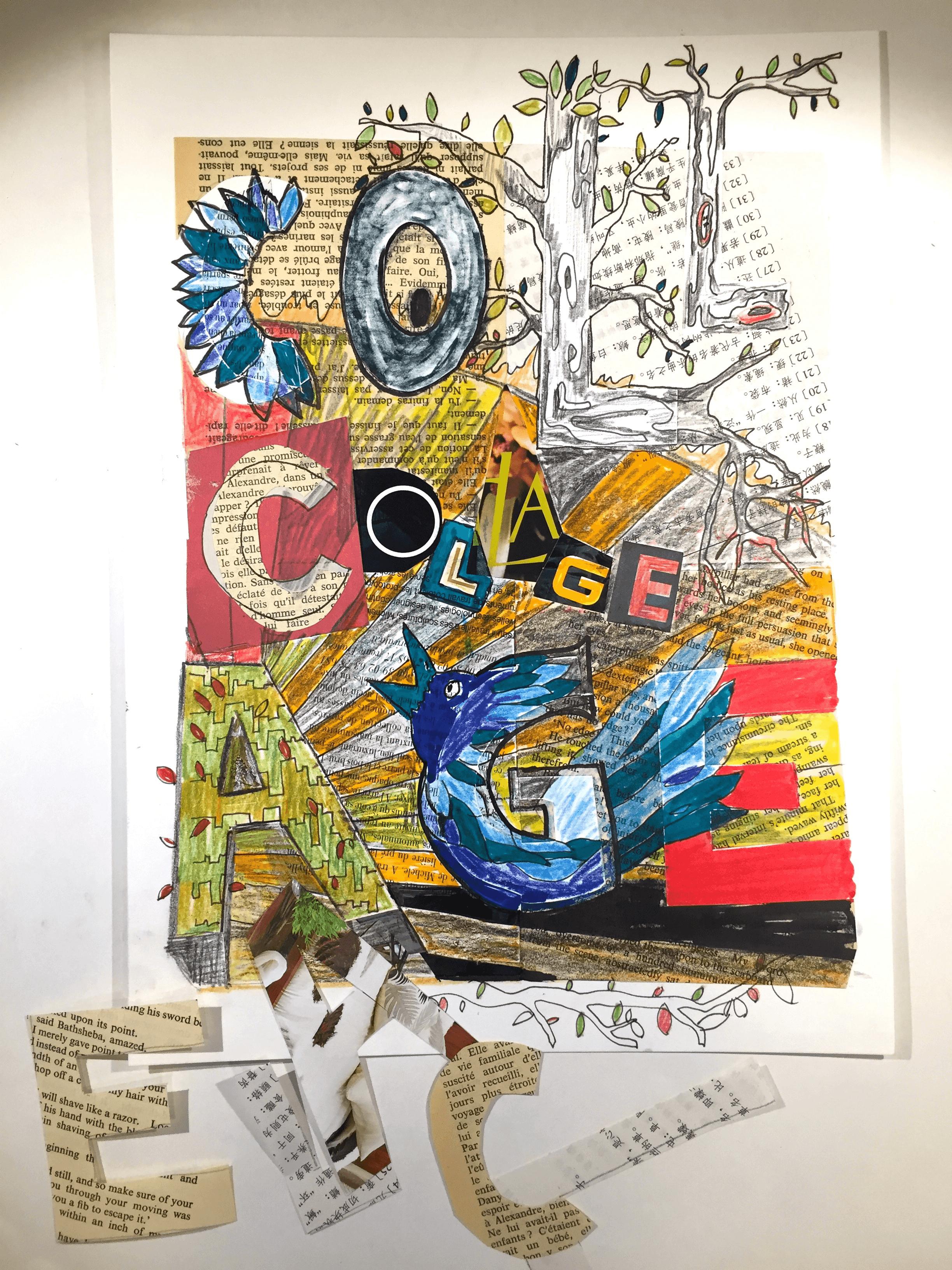 12-14 ans - Créations 2D en collage et peinture