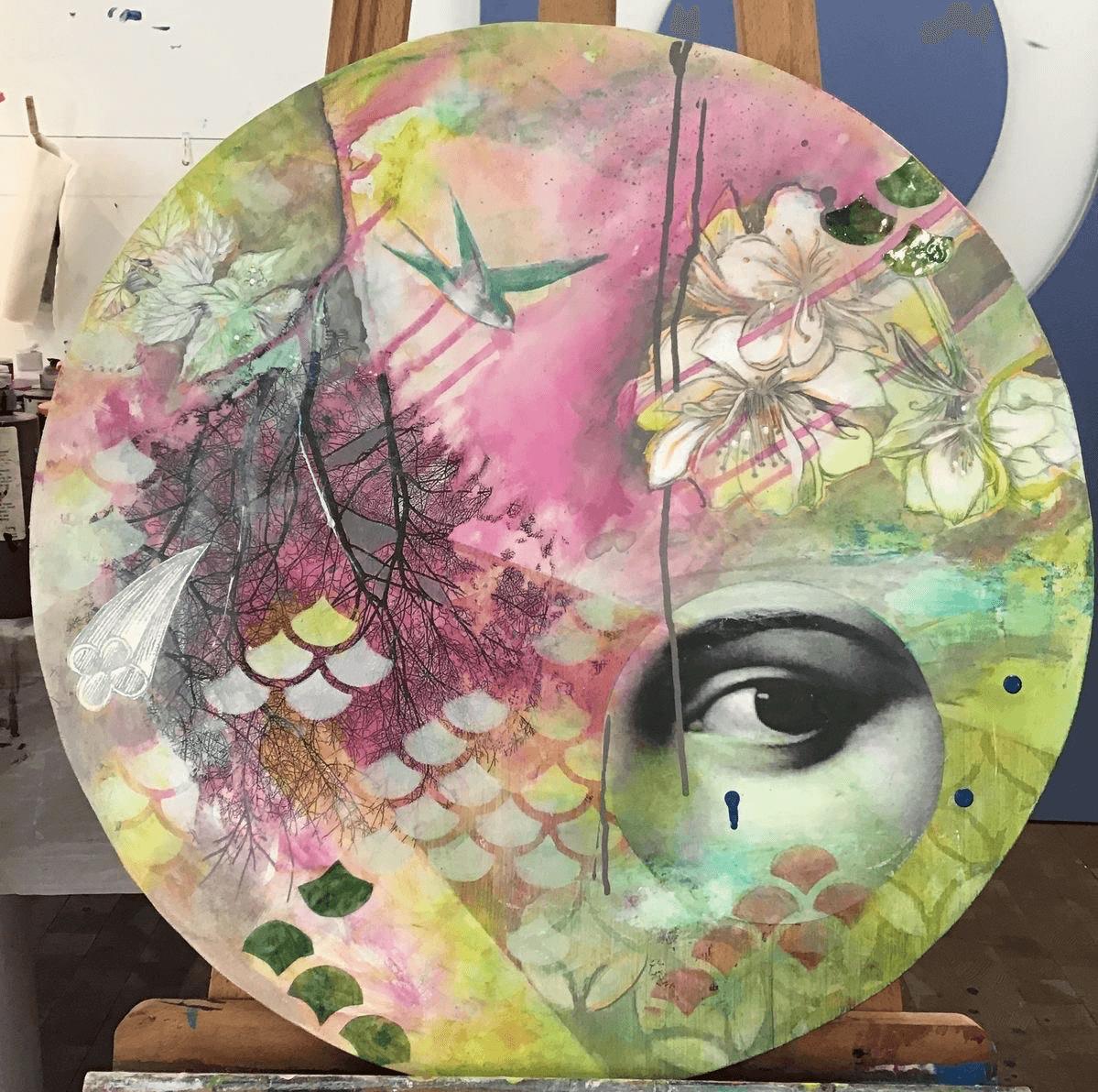 Mondo Tondo in Acrylic Paint