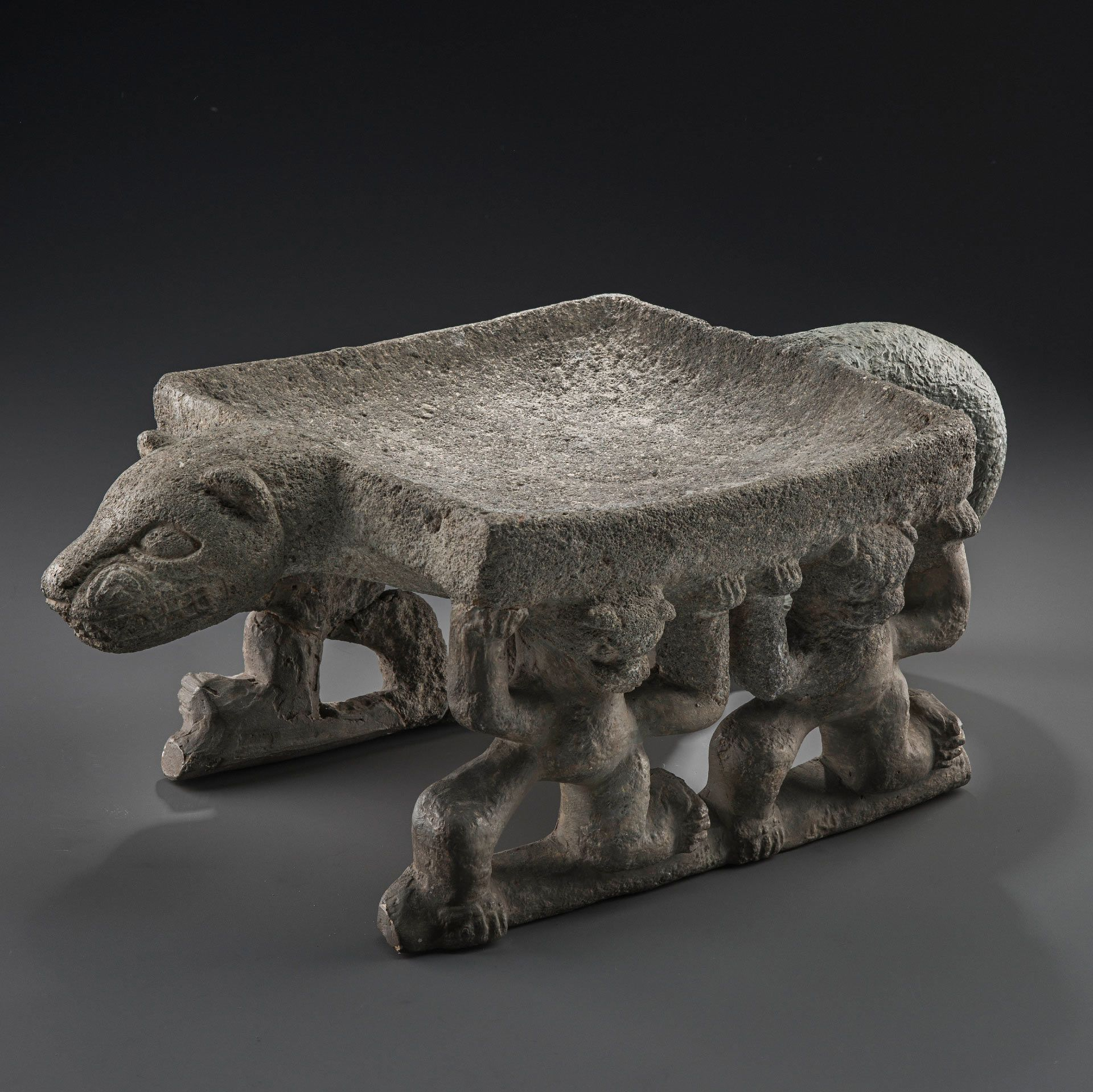 Ceremonial Metate (grinding table): Jaguar