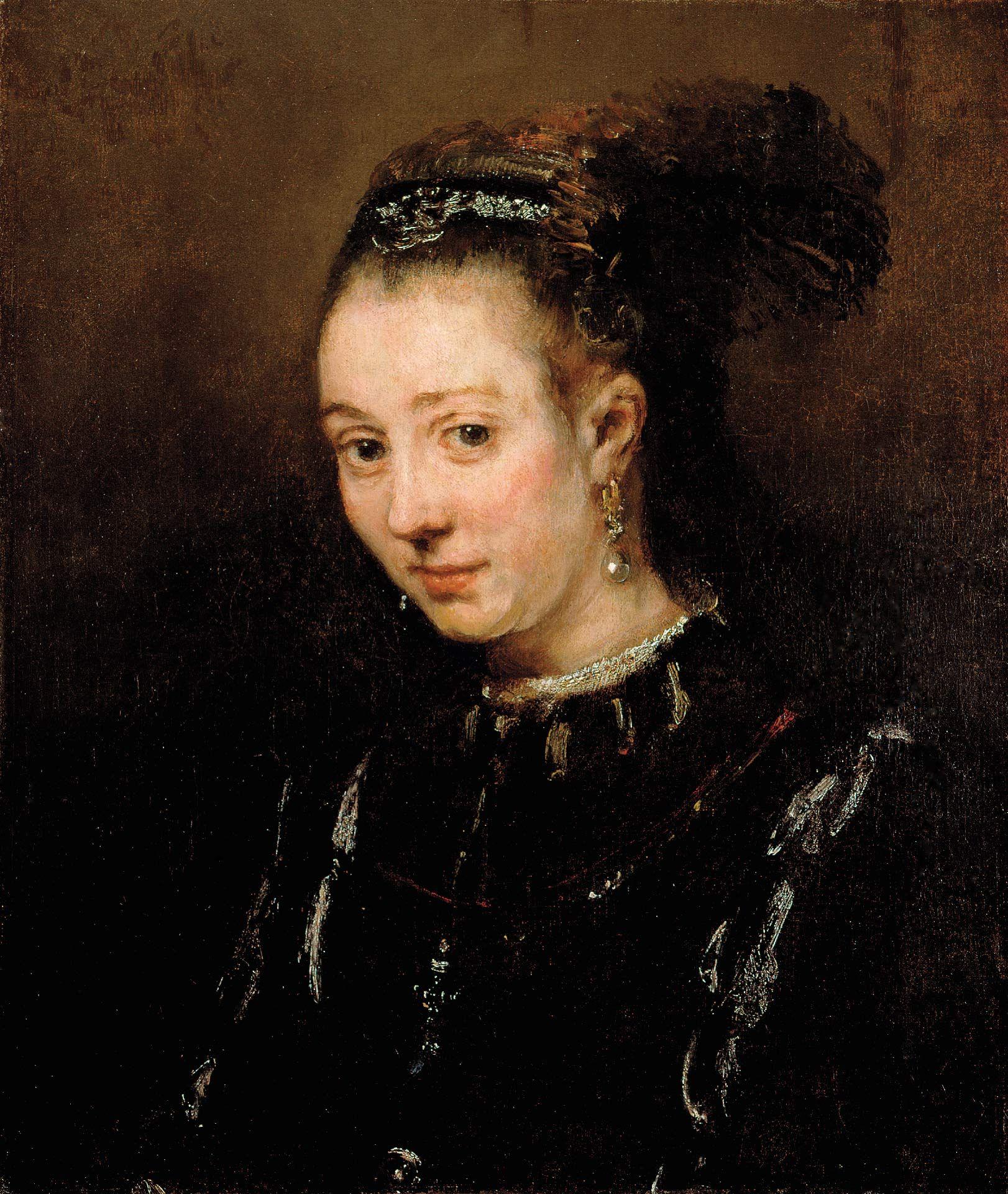 Rembrandt Harmensz. van Rijn, Portrait de jeune femme