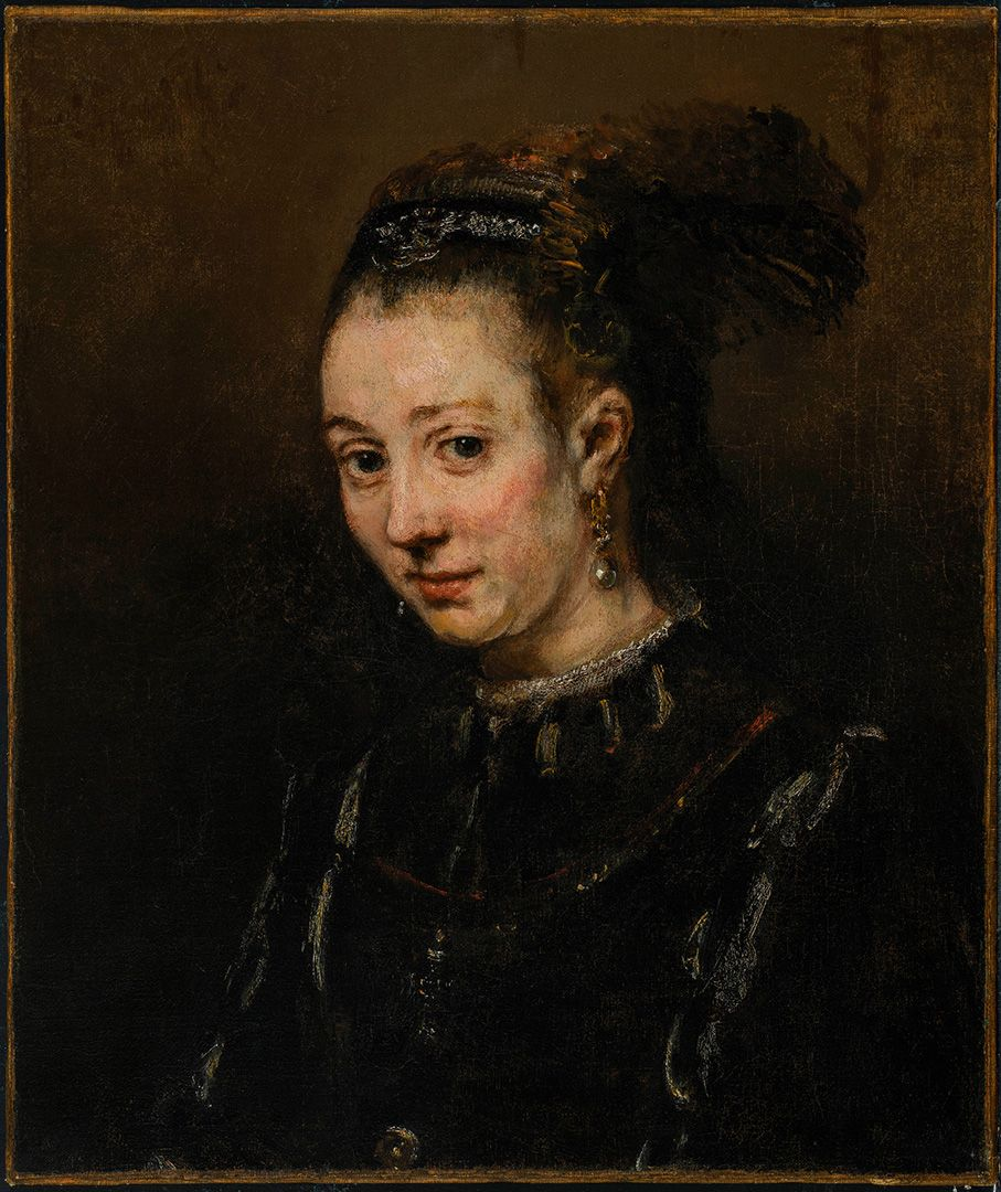 Rembrandt Harmensz. van Rijn, Portrait of a Young Woman (Magdalena van Loo?), about 1668, oil on canvas, 56.3 x 48 cm. Mrs. R. MacD. Paterson Bequest.
