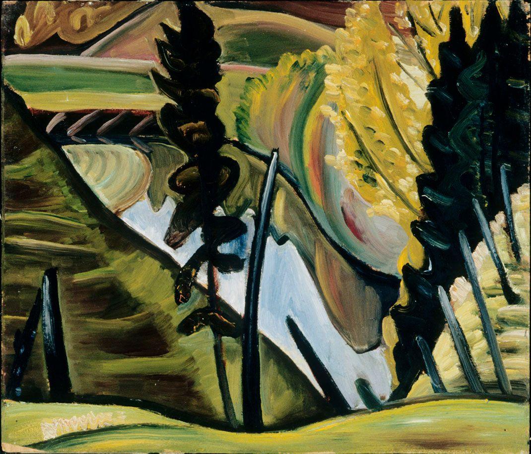 Prudence Heward, Scène de montagne, années 1930. MBAM, don de la famille de l'artiste. Photo MBAM, Brian Merrett