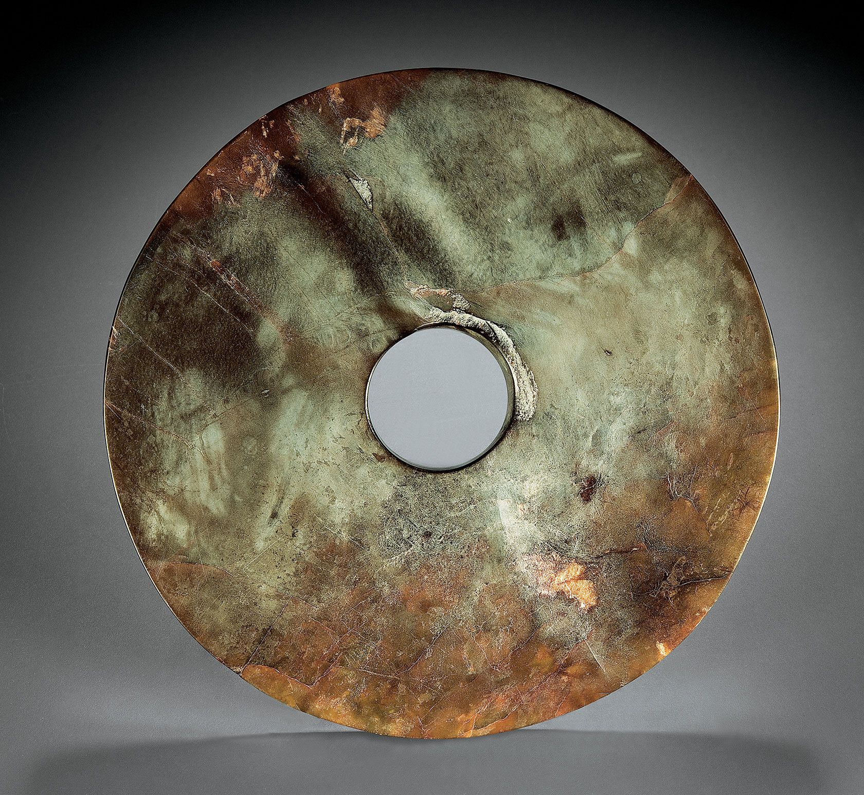"""Qijia, CHINA, GANSU PROVINCE, ritual disc (""""bi"""")"""