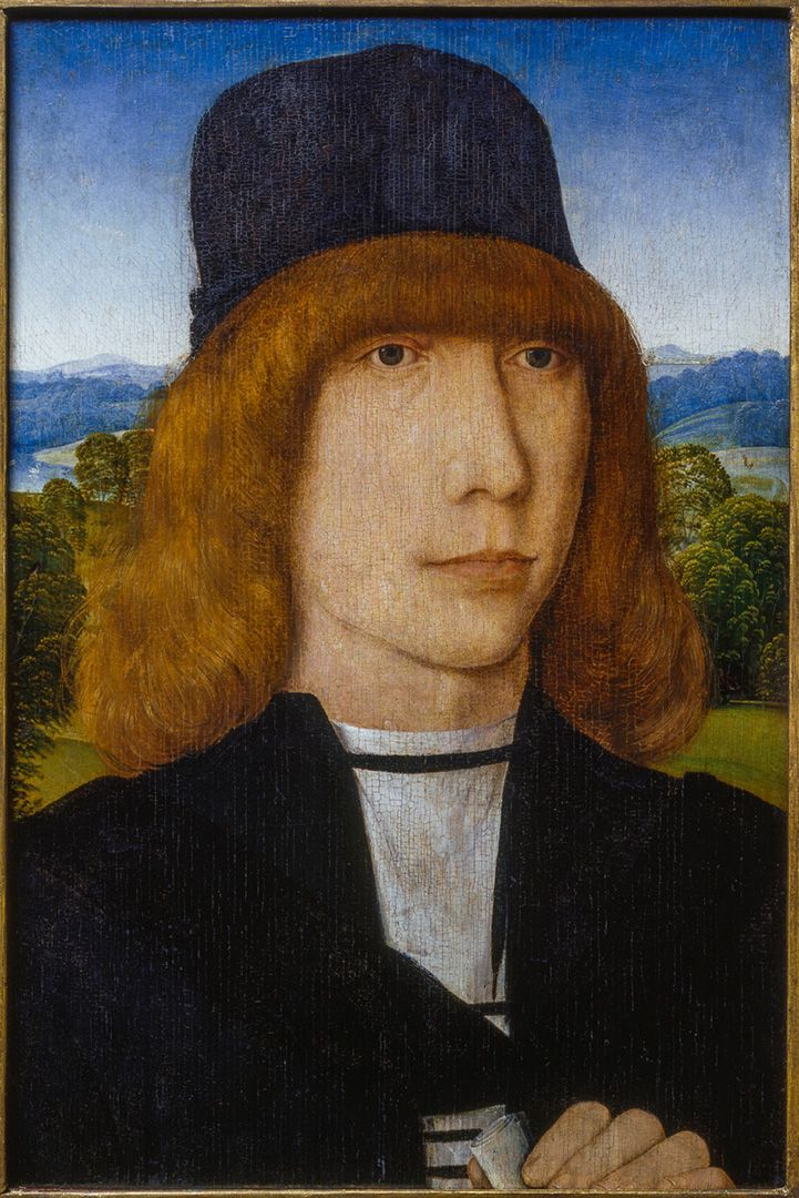 Hans Memling, Portrait of a Man, about 1480 or later, oil on wood, 33.4 x 22.8 cm. Purchase, Horsley and Annie Townsend Bequest and William Gilman Cheney Bequest.