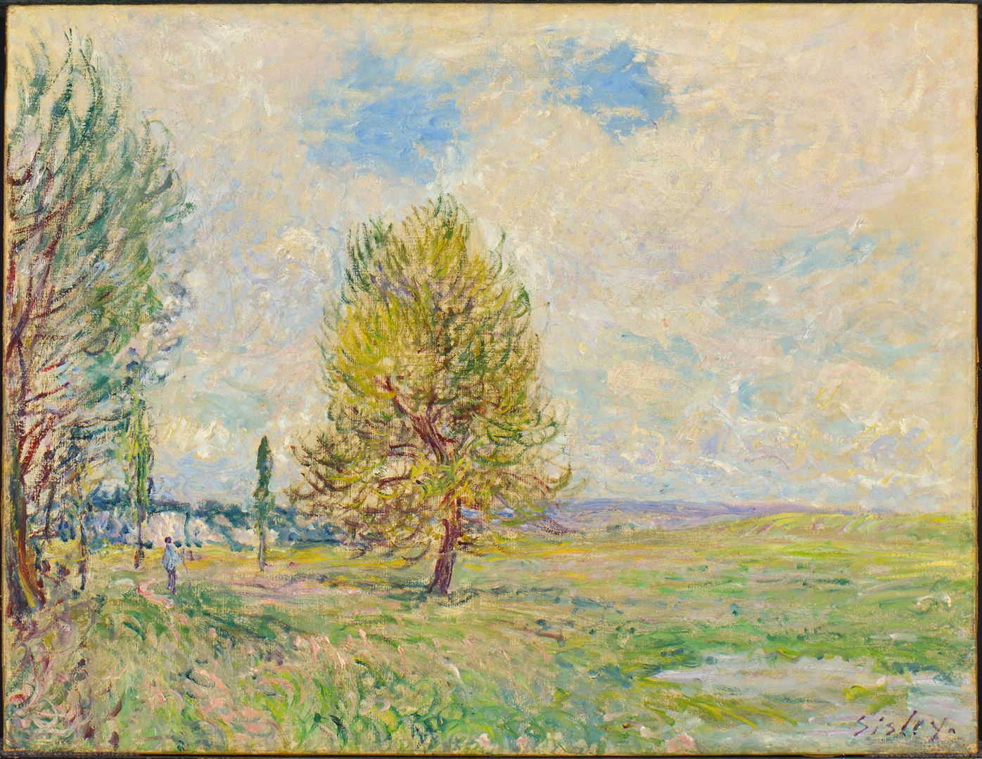 Alfred Sisley, The Plain at Veneux-Nadon, 1881, oil on canvas, 50.5 x 65.3 cm. Gift of Mr. and Mrs. Paul Ivanier.