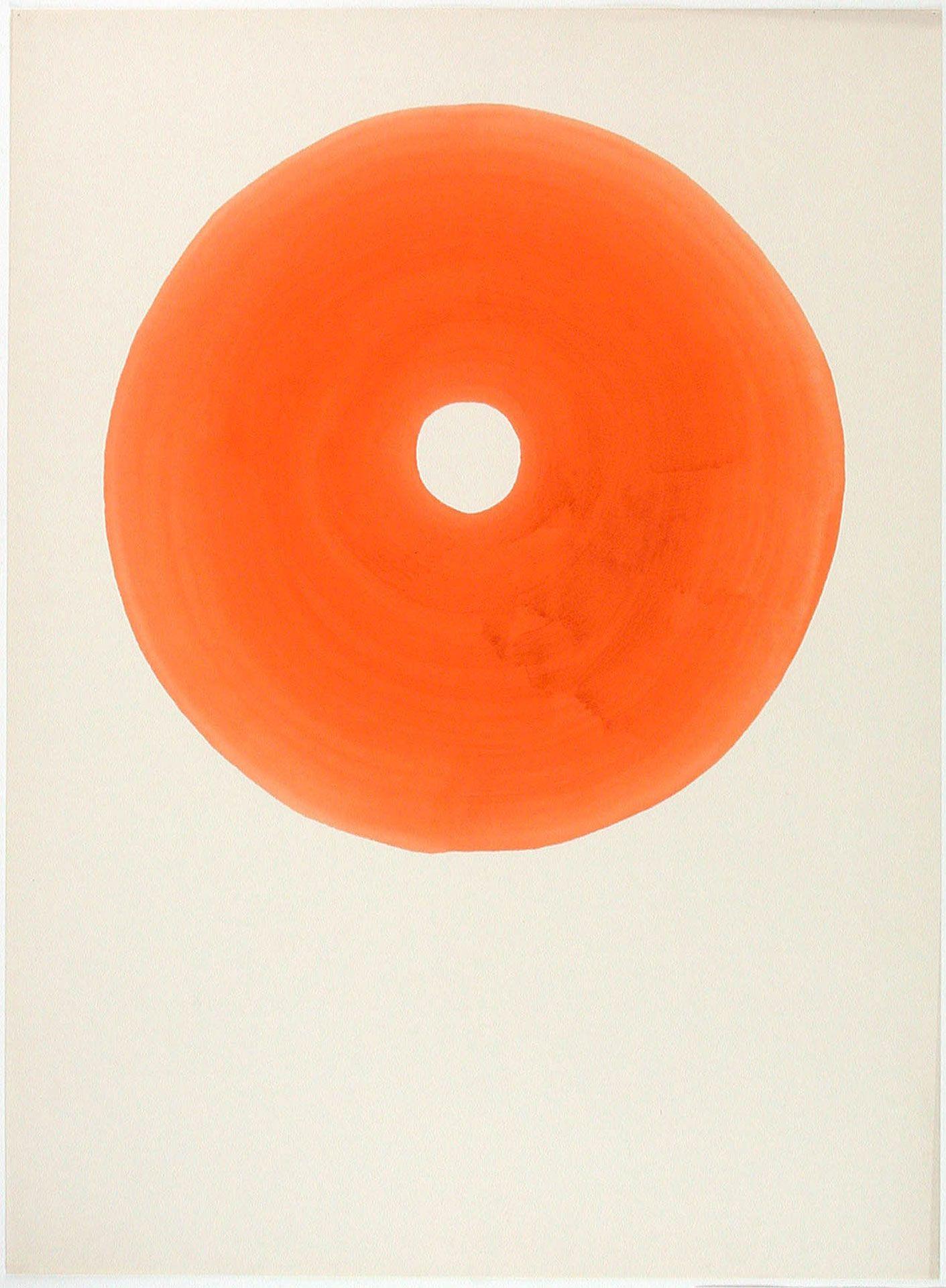 Louis Archambault, Sans titre [Cercle orange], 1971. MBAM, don de l'artiste à la mémoire de Mariette, son épouse.
