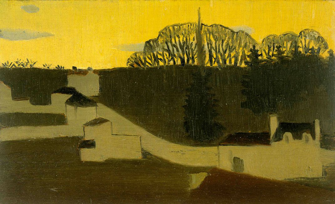 Maurice Denis, Yellow Evening over Fourqueux