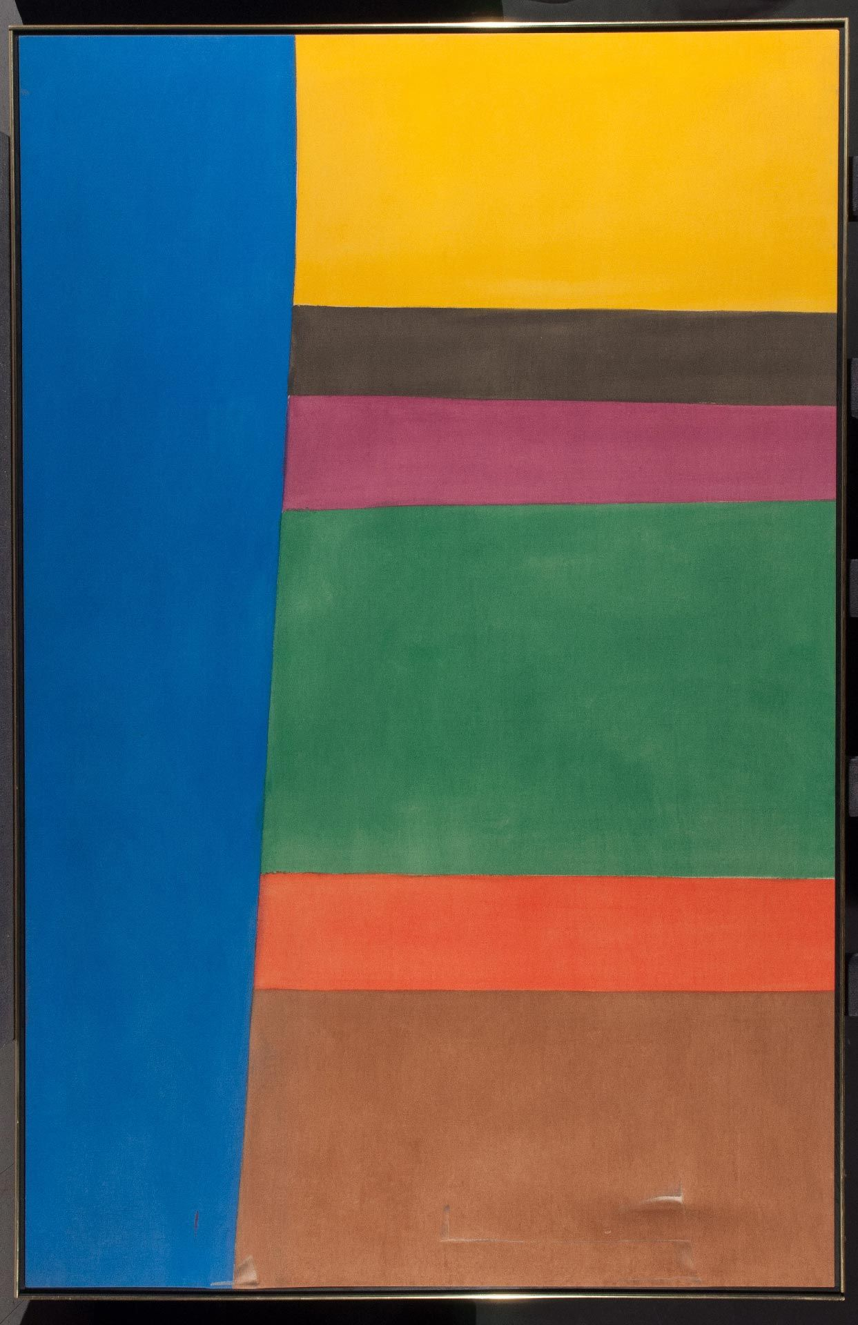 Sea Deep, 1965, oil on canvas, 223.4 x 145 cm. MMFA, purchase, grant from the Government of Canada under the terms of the Cultural Property Export and Import Act, and gift of Elca, Jonas and Mark London. Before treatment