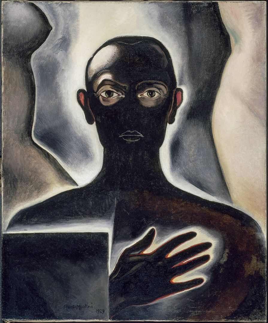 Alberto Martini, Self-portrait, 1929, oil on canvas, 65 x 54 cm. Purchase, Horsley and Annie Townsend Bequest.