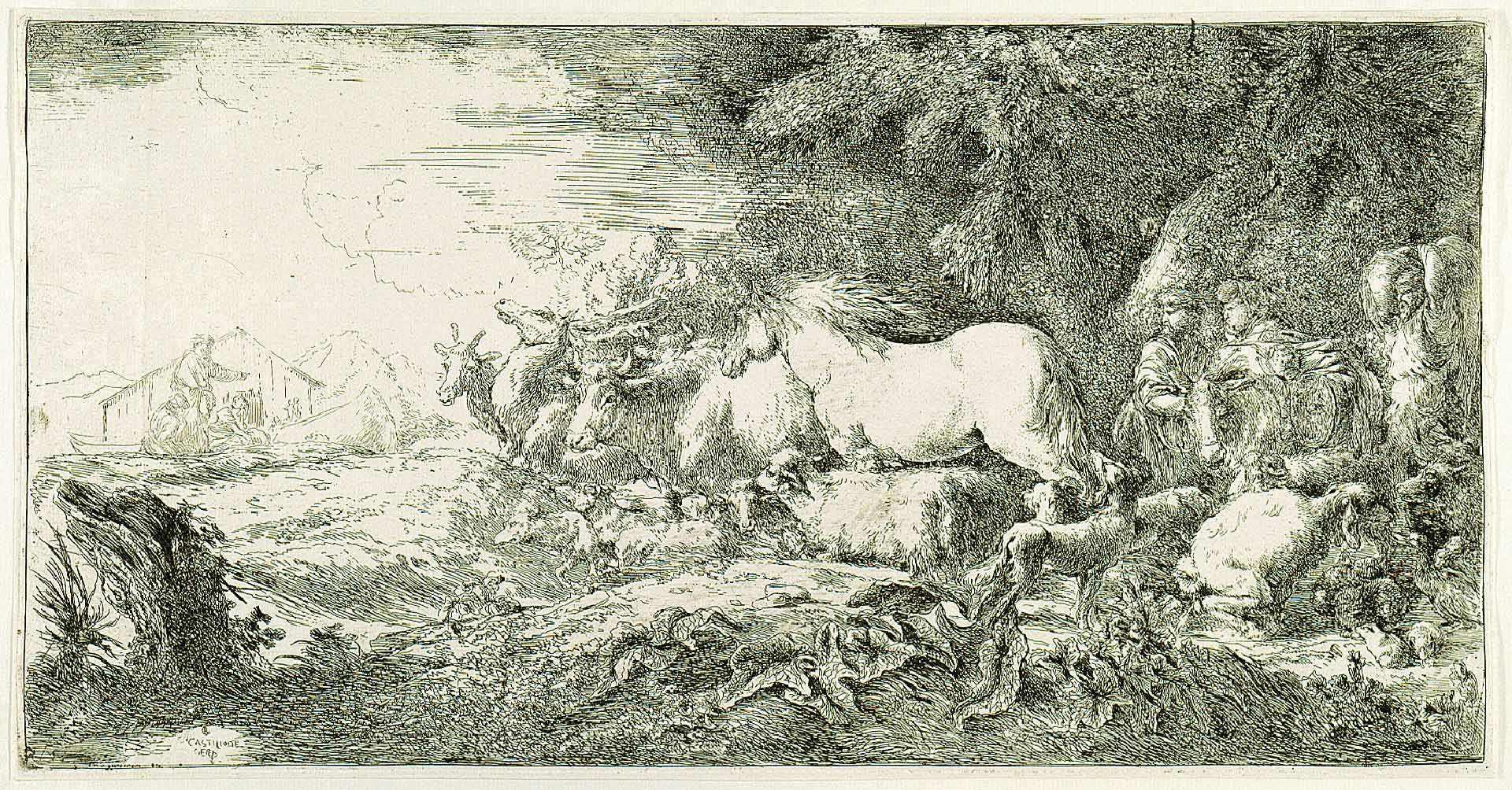 L'embarquement des animaux dans l'arche de Noé