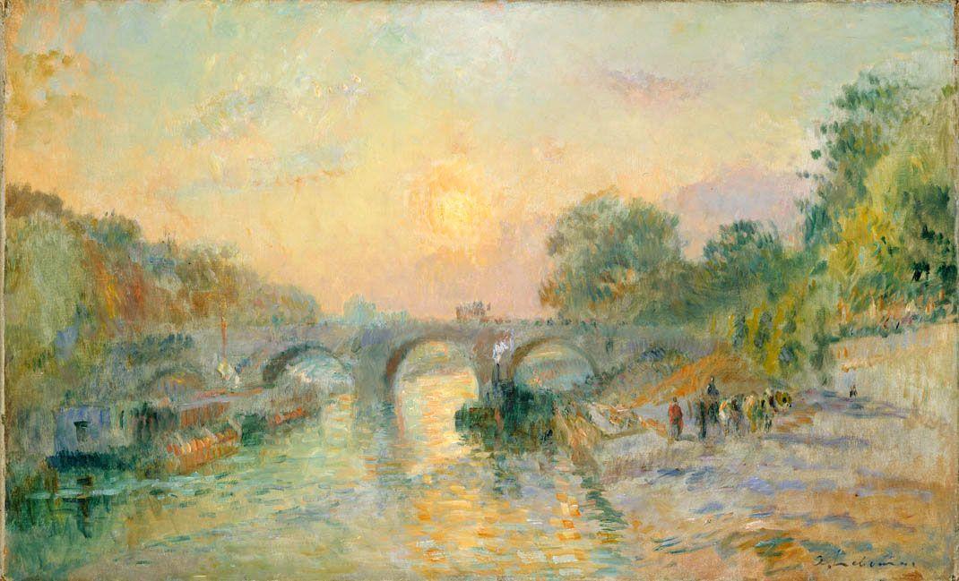 Albert Lebourg, Le Pont Marie, au soleil couchant (Paris)