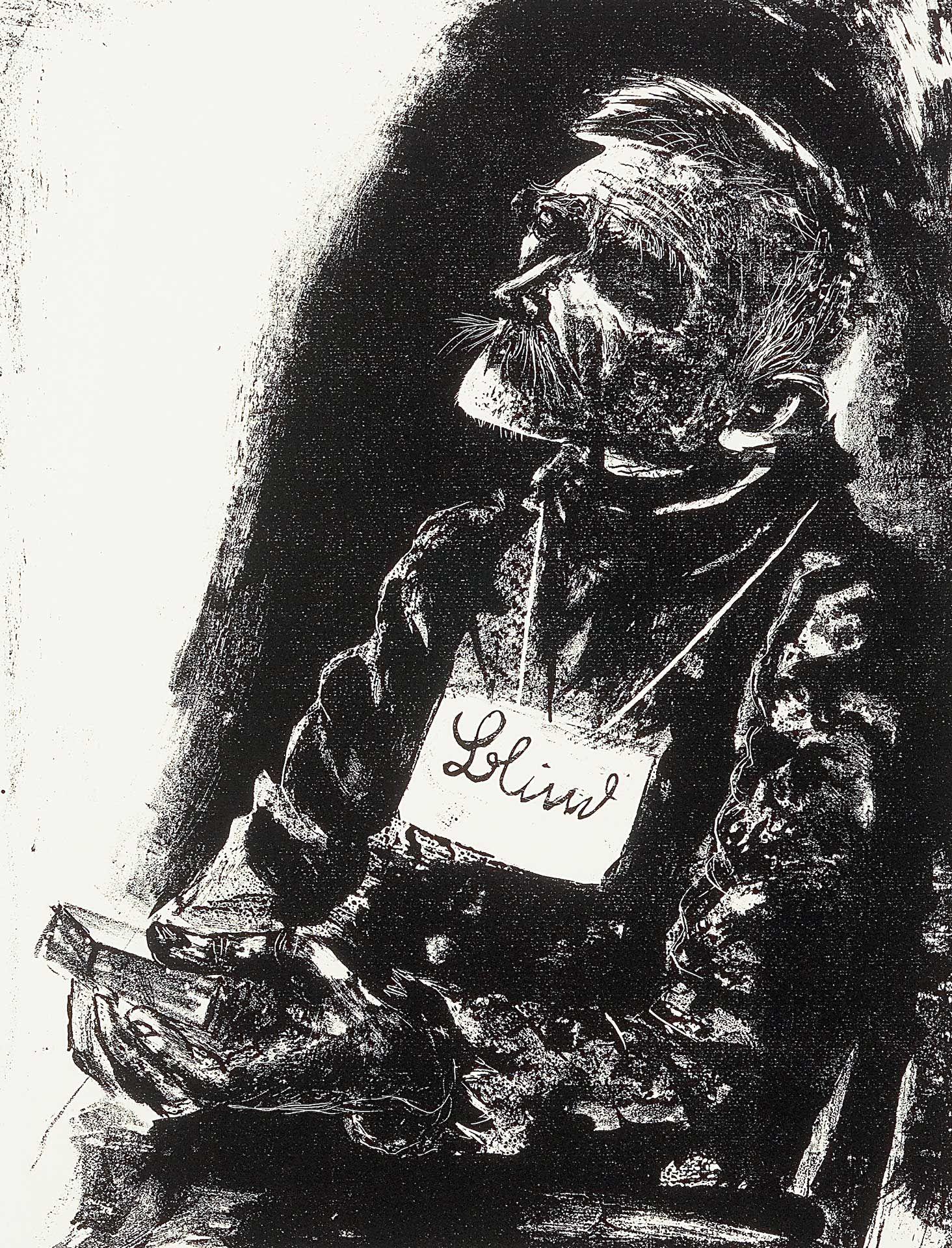 Otto Dix (1891-1969), L'aveugle, 1923, lithographie, état unique. MBAM, achat, fonds Wake Robin à la mémoire de Nelo St.B. Harrison. © Succession Otto Dix / SOCAN (2020)