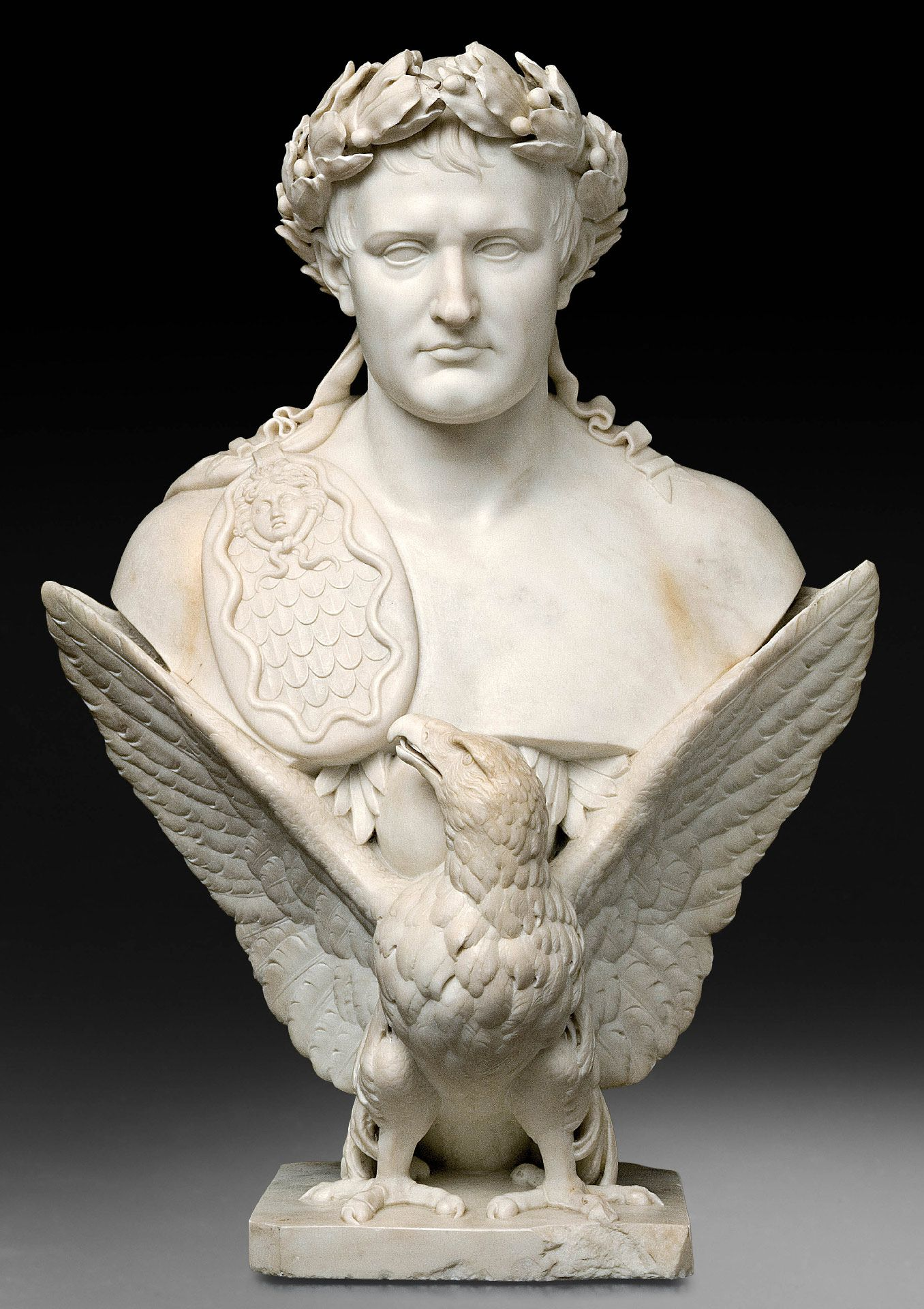 Bertel Thorvaldsen, The Apotheosis of Napoleon, about 1830, marble, 95 x 70 x 46 cm. Ben Weider Collection.