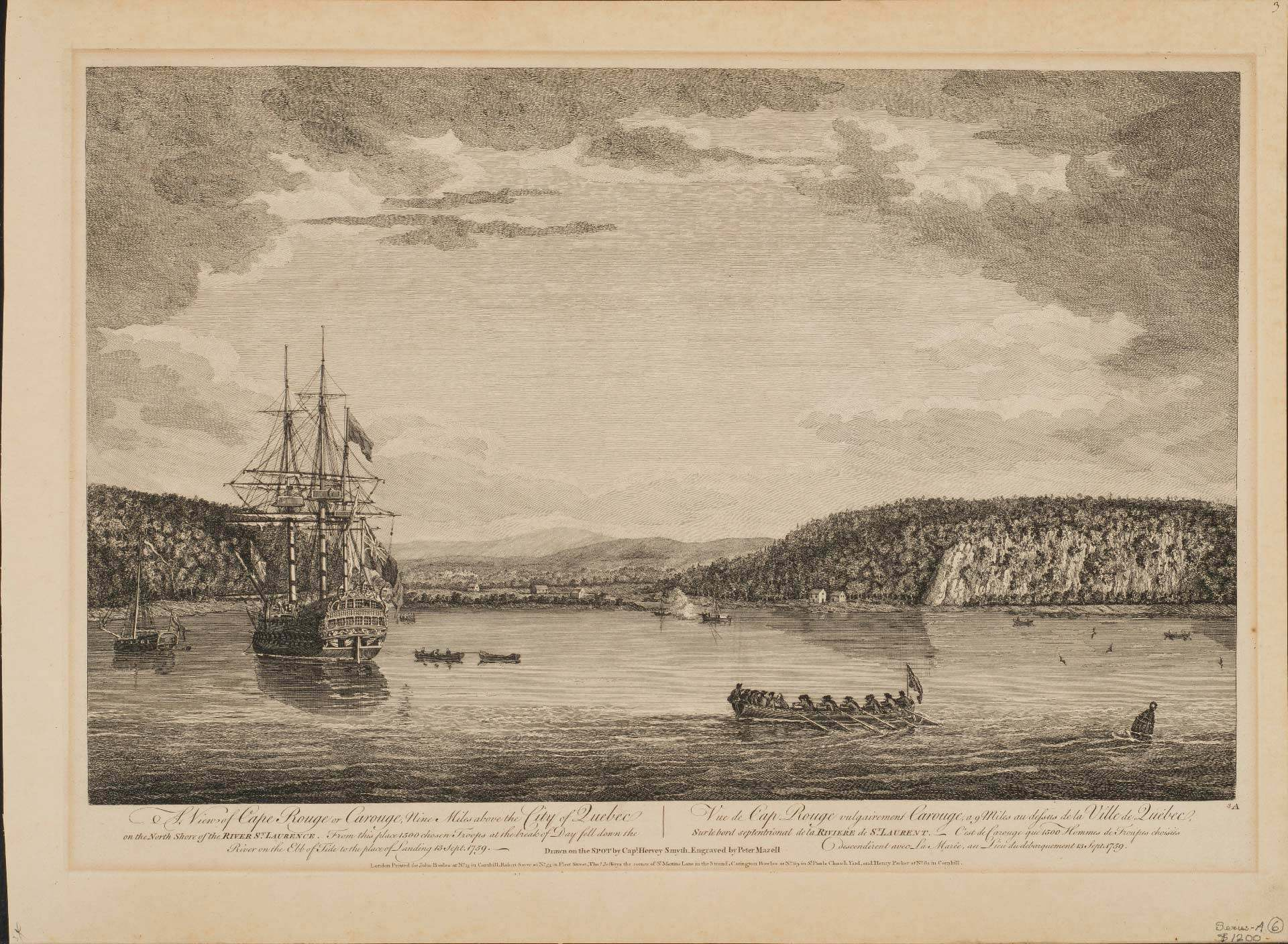 A View of Cape Rouge or Carouge, Nine Miles Above the City of Quebec on the North Shore of the River St. Laurence