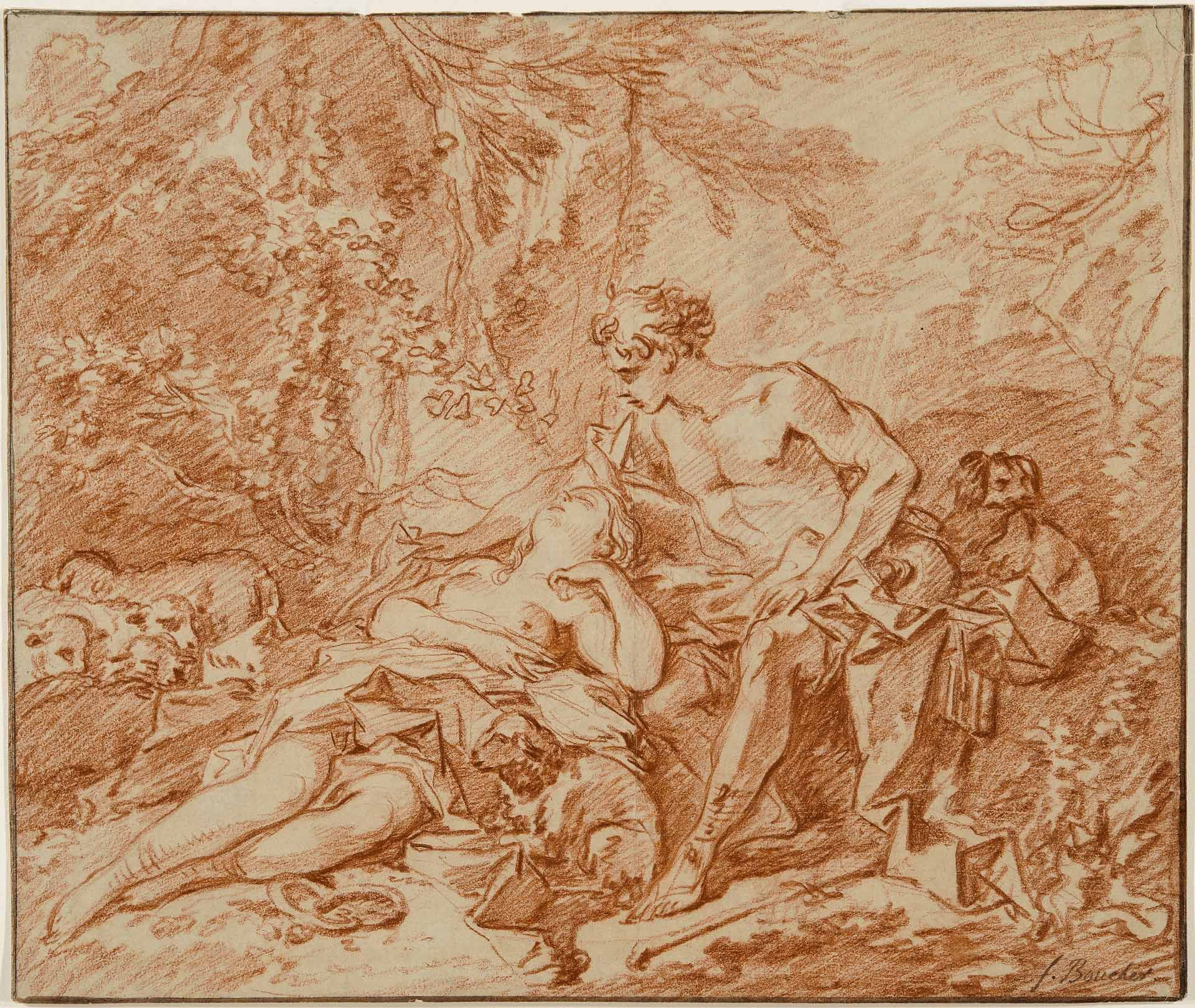 Study for the Daphnis and Chloe in the Wallace Collection, London