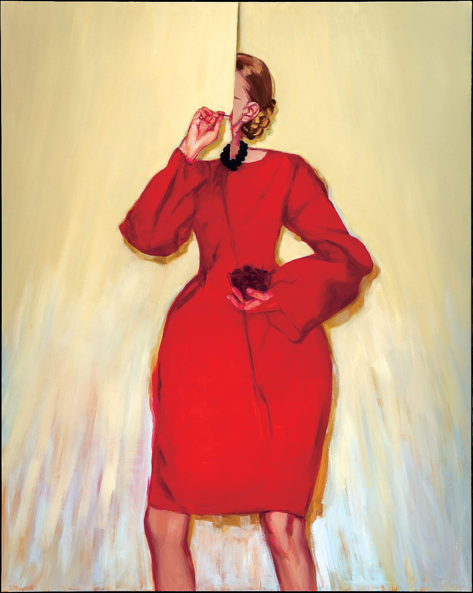 Janet Werner (born in 1959), Carey, 2014, Oil on canvas, 249.2 x 198.2 x 4.2 cm. MMFA, purchase, F. Cleveland Morgan Fund. Photo MMFA, Christine Guest