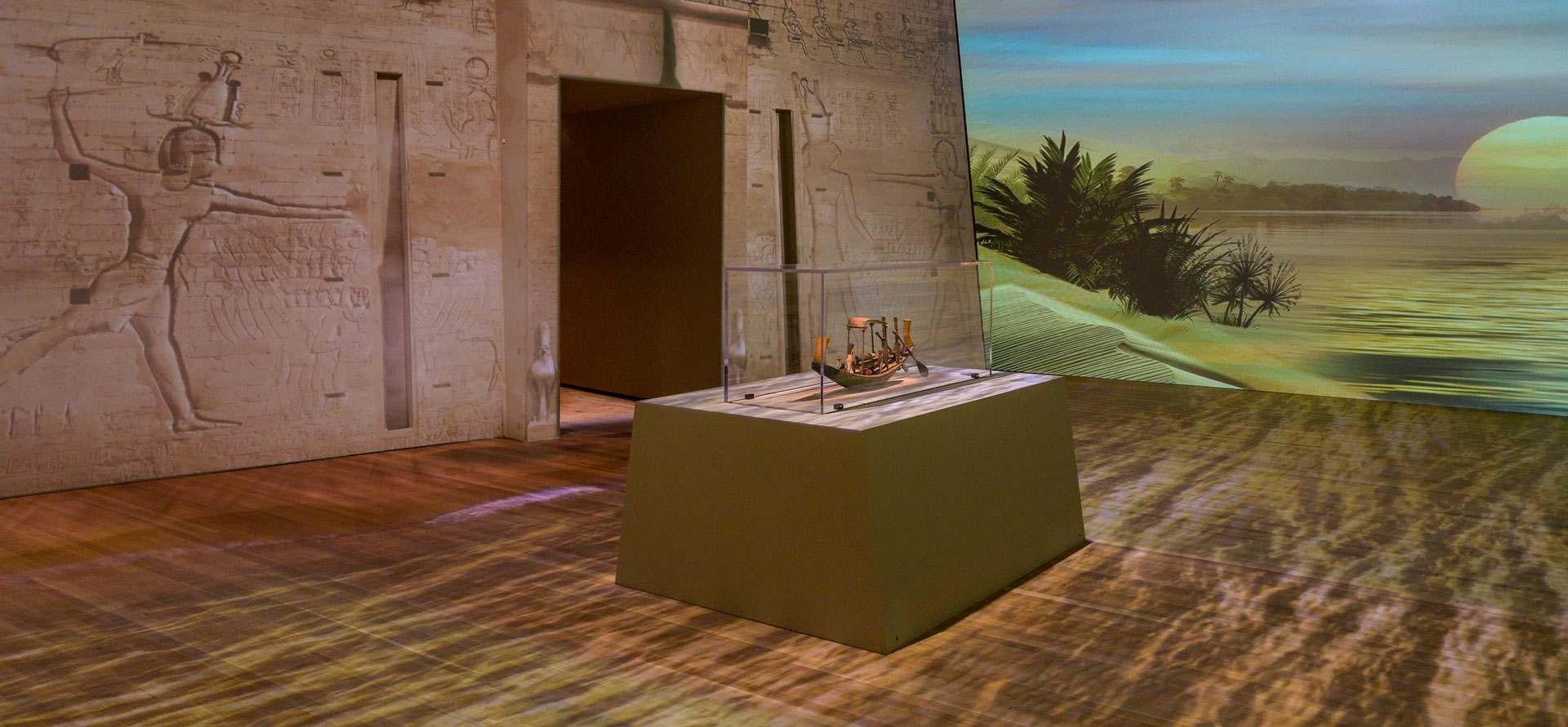 scene from the MMFA's exhibition Egyptian Mummies: Exploring Ancient Lives Photo MMFA, Denis Farley.