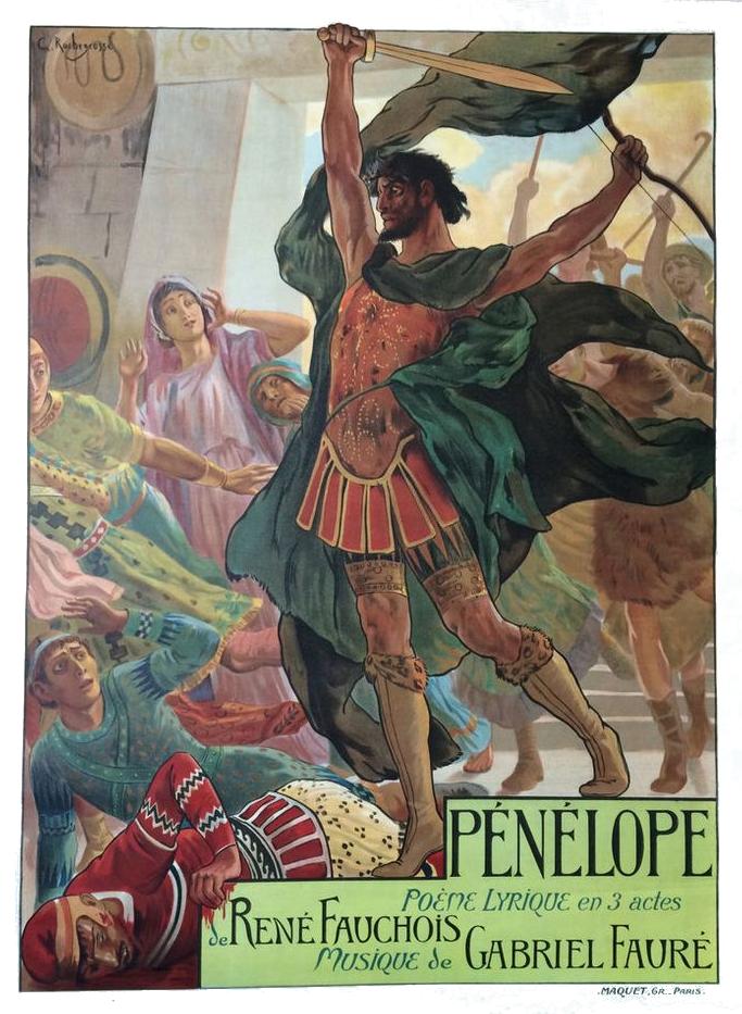 Affiche publicitaire de l'opéra Pénélope