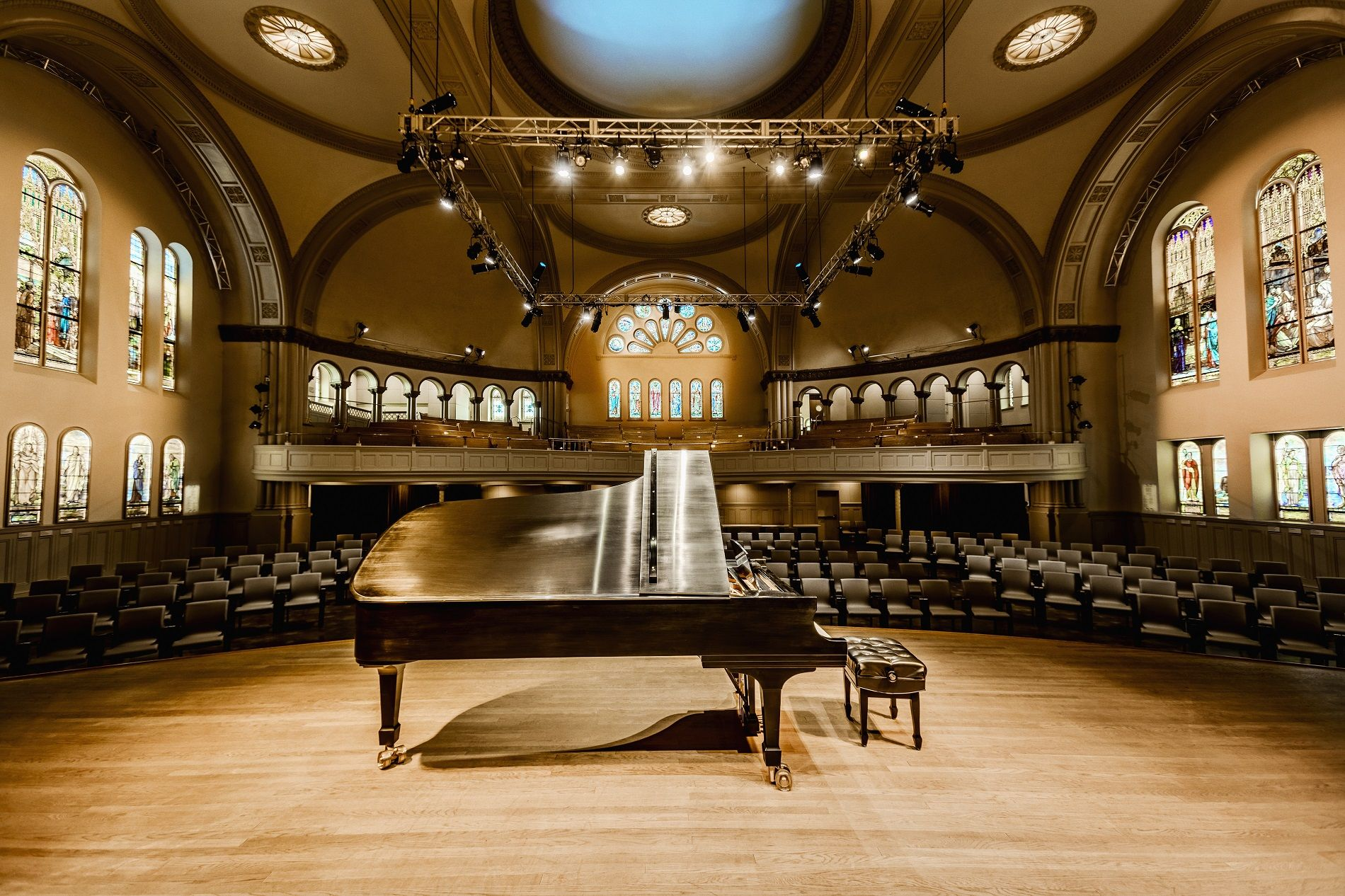 Panorama de l'intérieur de la salle Bourgie. Photo : Julia Marois
