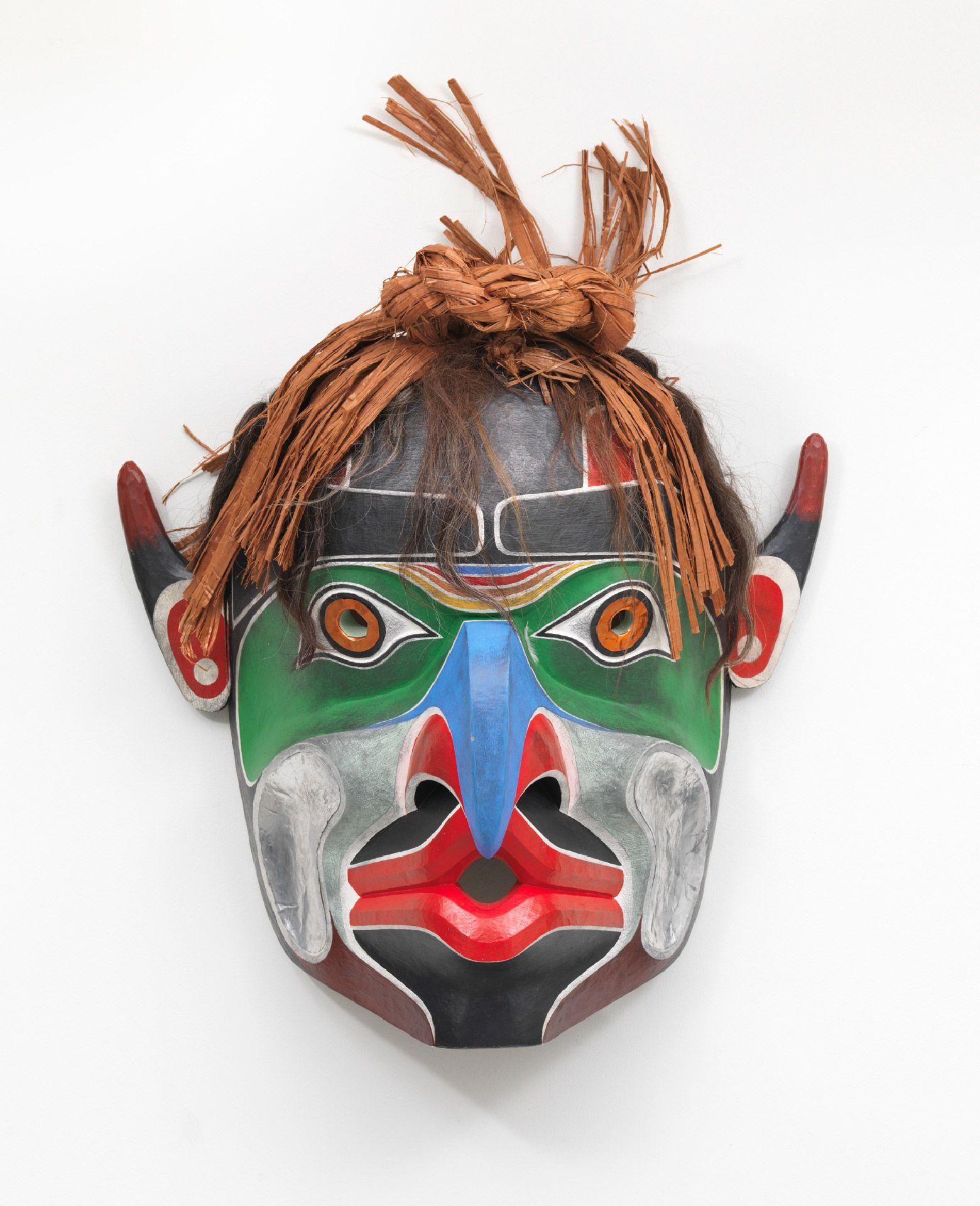 Beau Dick (1955-2017), Bukwus (Kwakwaka'wakw Mask), 2012, cedar, cedar bark, paint, aluminium, copper, horse hair. Photo Joseph Hartman.