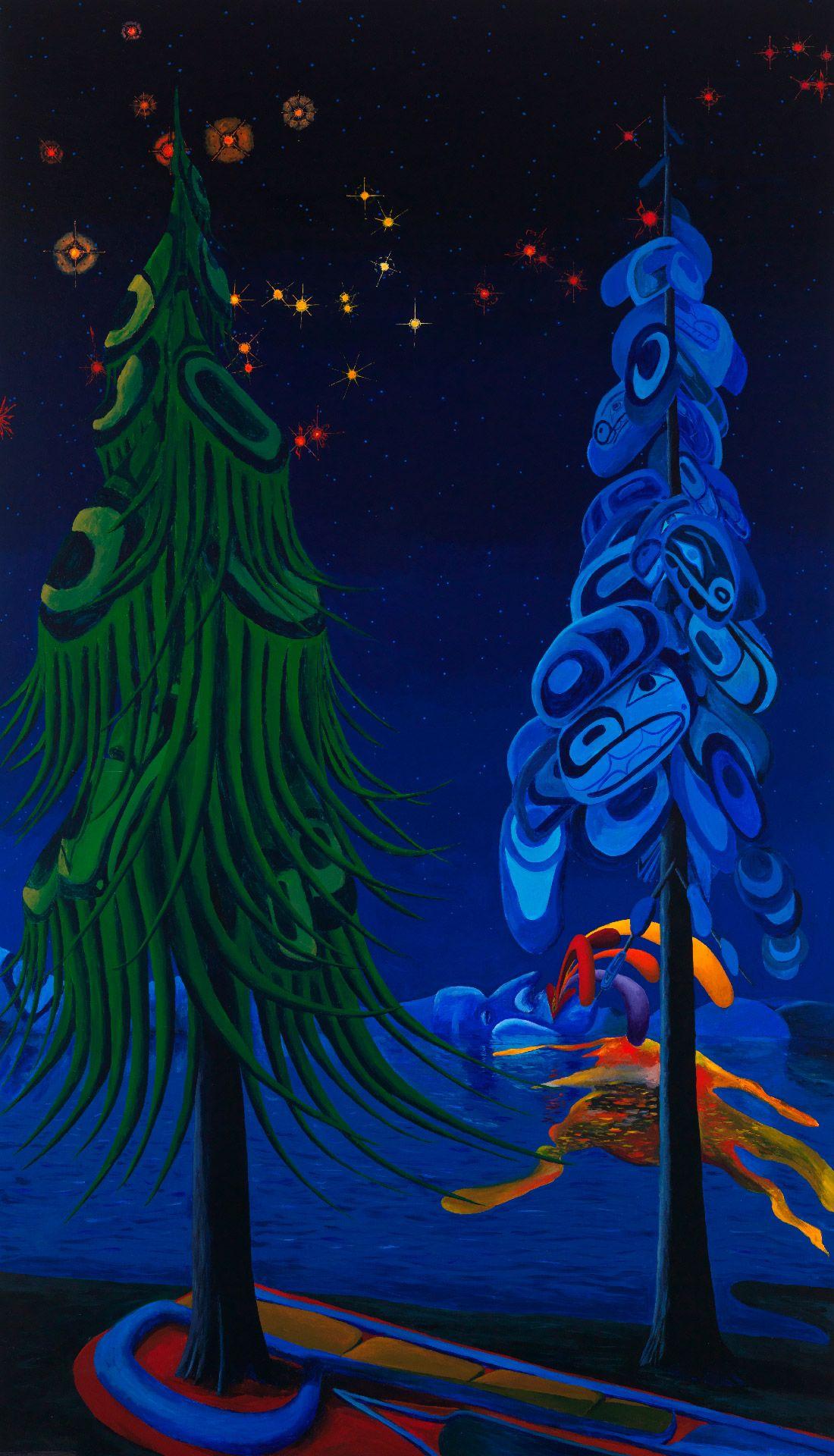 Lawrence Paul Yuxweluptun (born in 1957), Pollycolour, 2014