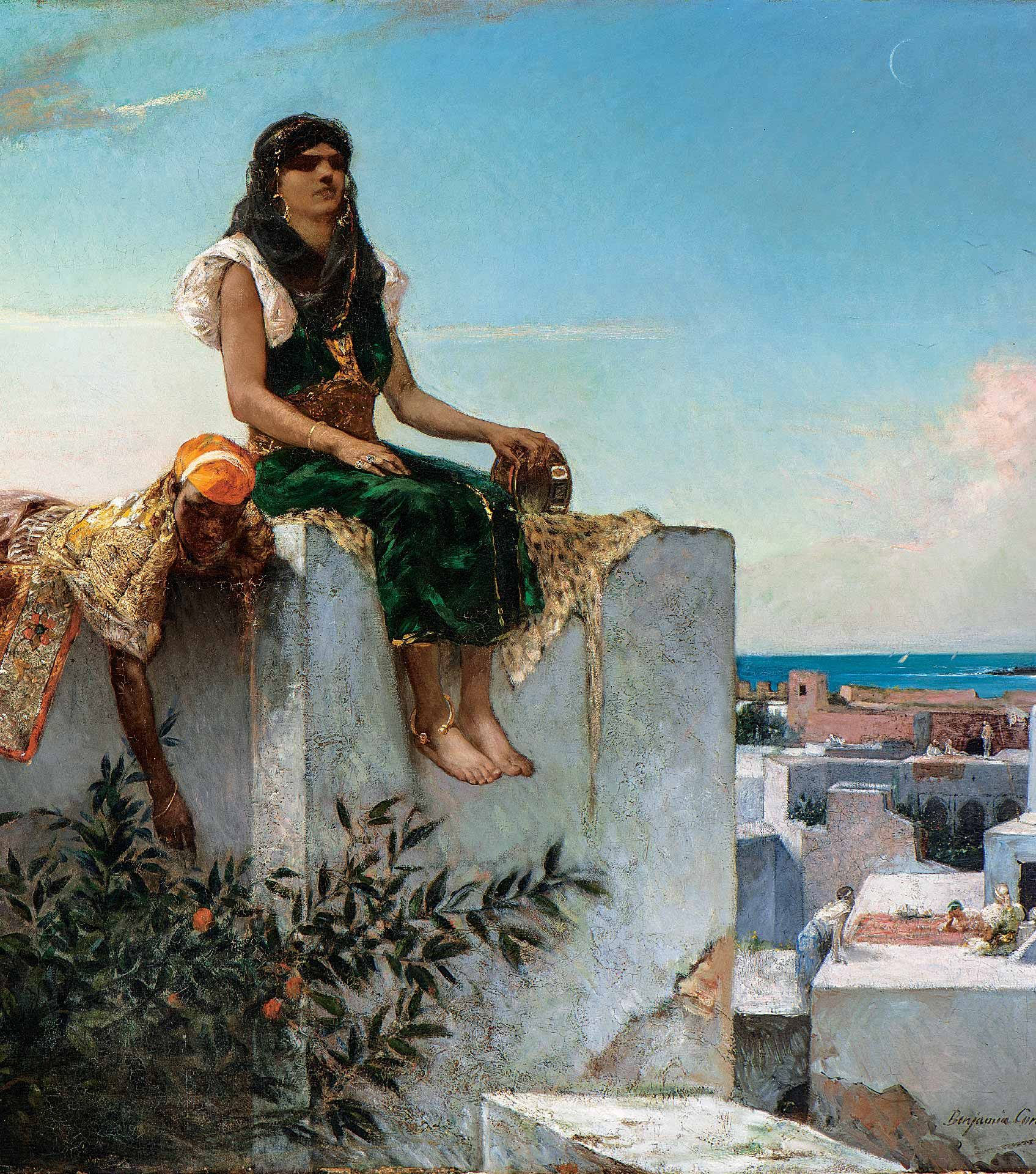 Jean-Joseph Benjamin-Constant, Evening on the Terrace (Morocco), 1879, oil on canvas, 123 x 198.5 cm. MMFA, gift of Lord Strathcona and family. Photo MMFA, Christine Guest