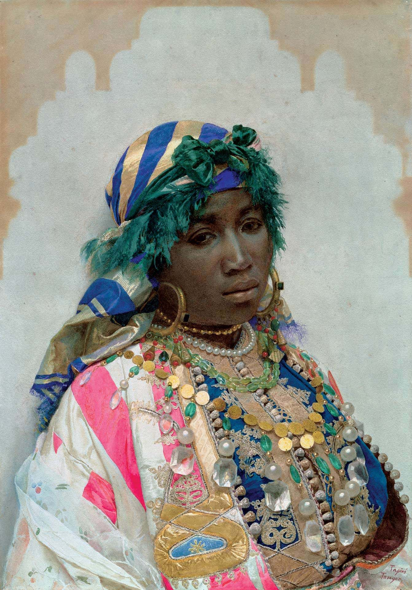José Tapiró Baró, Tangerian Beauty, about 1891, watercolour on paper, 66 x 47 cm. New York, Dahesh Museum of Art. Photo © Dahesh Museum of Art, New York, USA / The Bridgeman Art Library