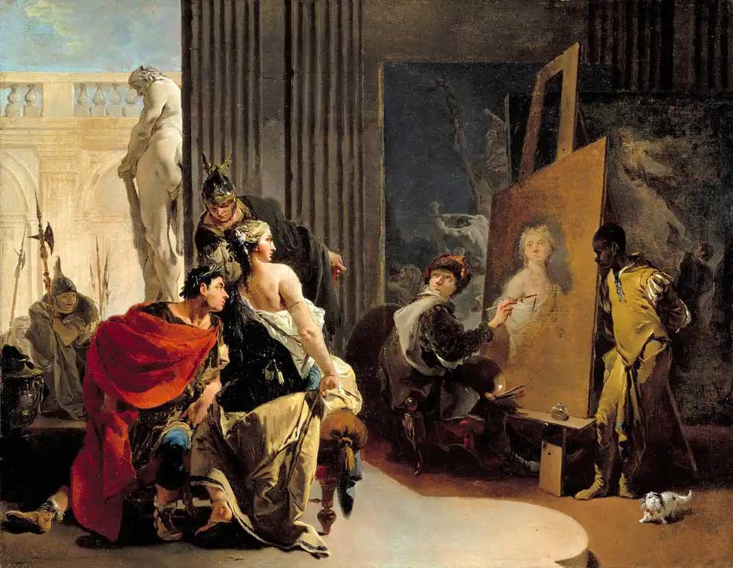 Giovanni Battista Tiepolo, Apelles Painting the Portait of Campaspe
