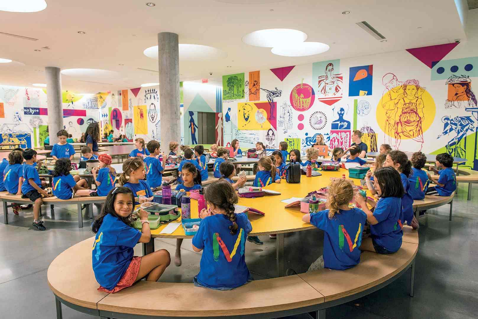 enfants participant au camp de jour du Musée des beaux-arts de Montréal. Photo Caroline Hayeur (Collectifs stock photo)