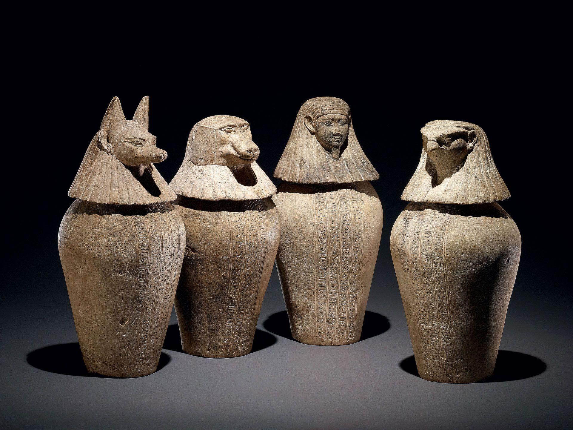 Canopic jar of Djedbastetiuefankh, 30th Dynasty