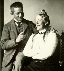 Carl Nielsen and his wife, Anne Marie