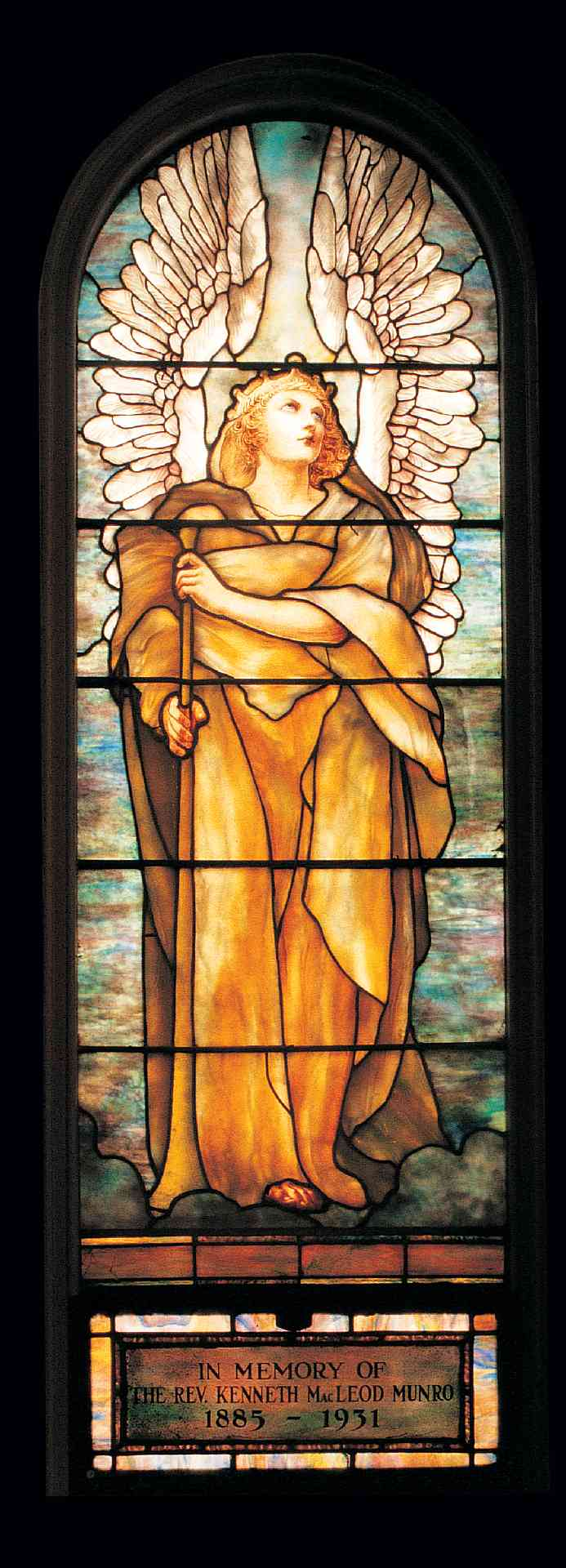 Tiffany Studios, New York Angel of the Resurrection, leaded-glass window, about 193, after a 1904 cartoon by Frederick Wilson The Erskine and American Church