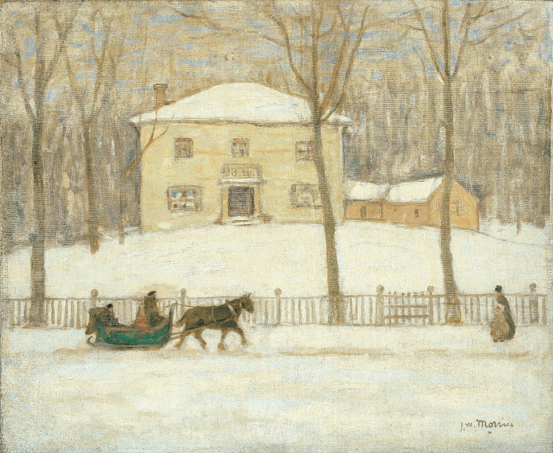 Peinture de la maison holton en hiver