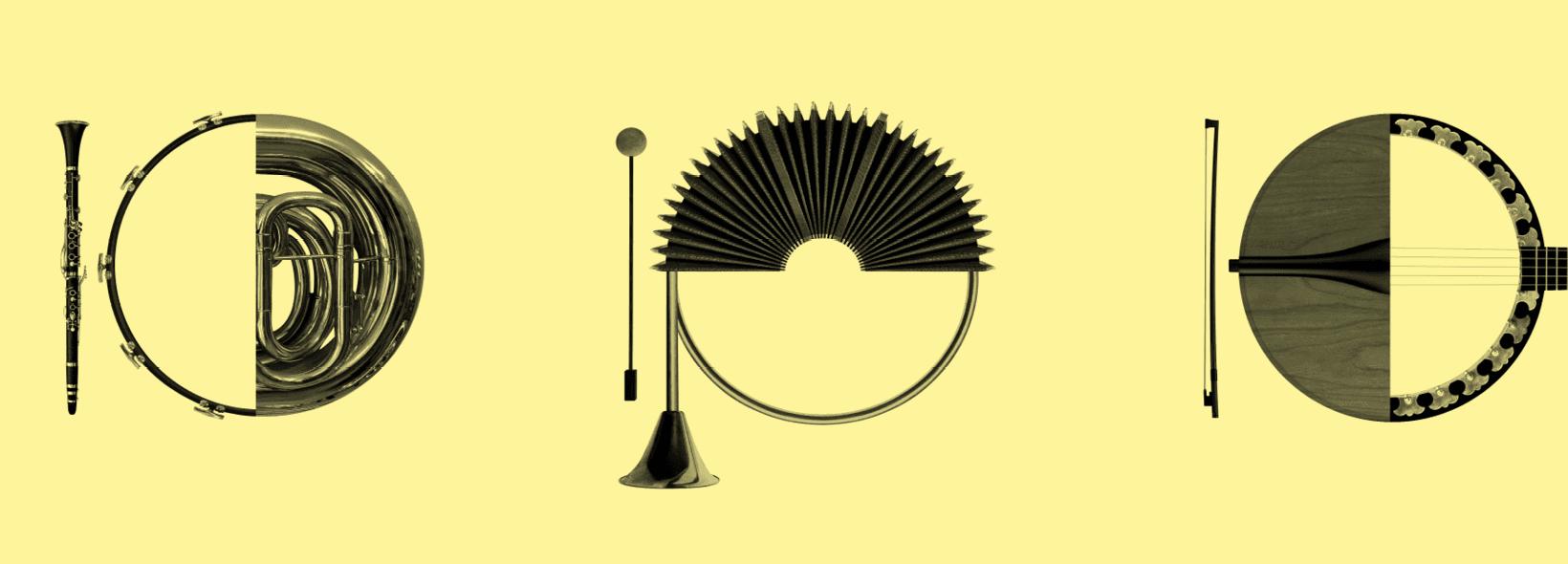Instruments en forme de 10 pour le 10e anniversaire de la salle Bourgie