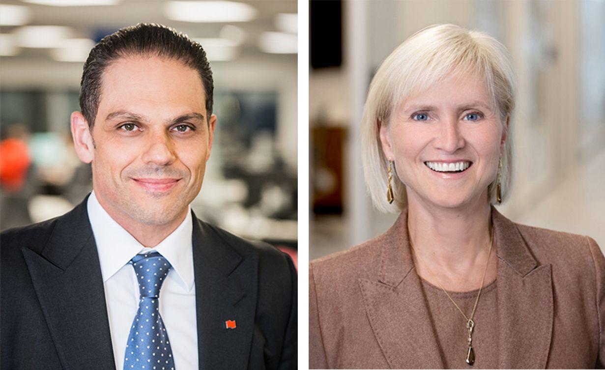 Laurent Fereirra et Anne-Marie Hubert