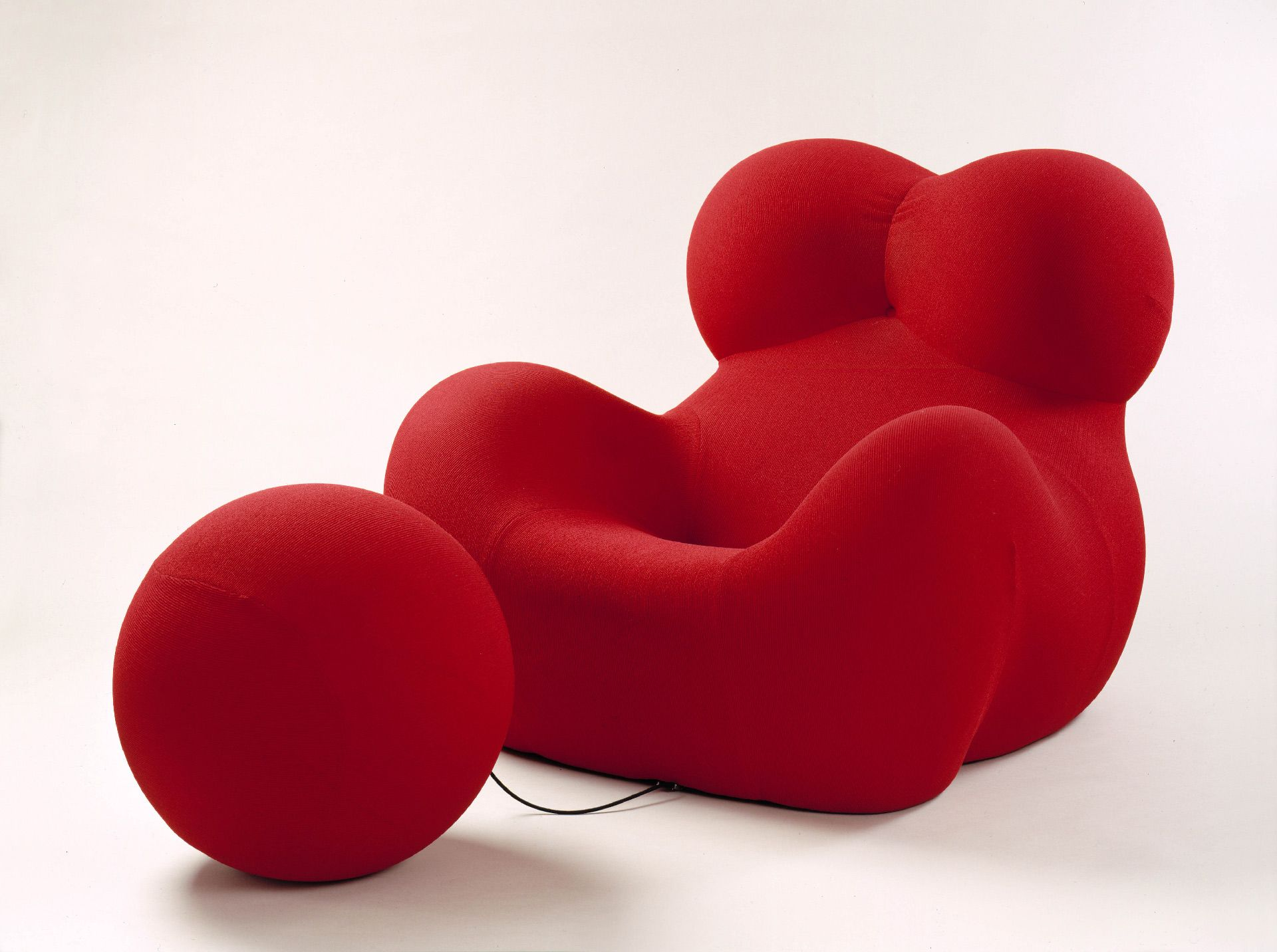 """La Mamma"" Armchair and Ottoman ""Up 5"" and ""Up 6"" from the series ""Up"""""