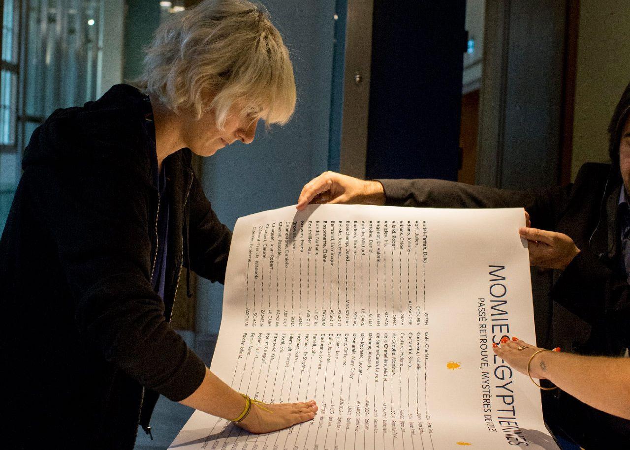 Musée en partage pour l'exposition Momies égyptiennes : Passé retrouvé, mystères dévoilés. Photo © Sébastien Roy