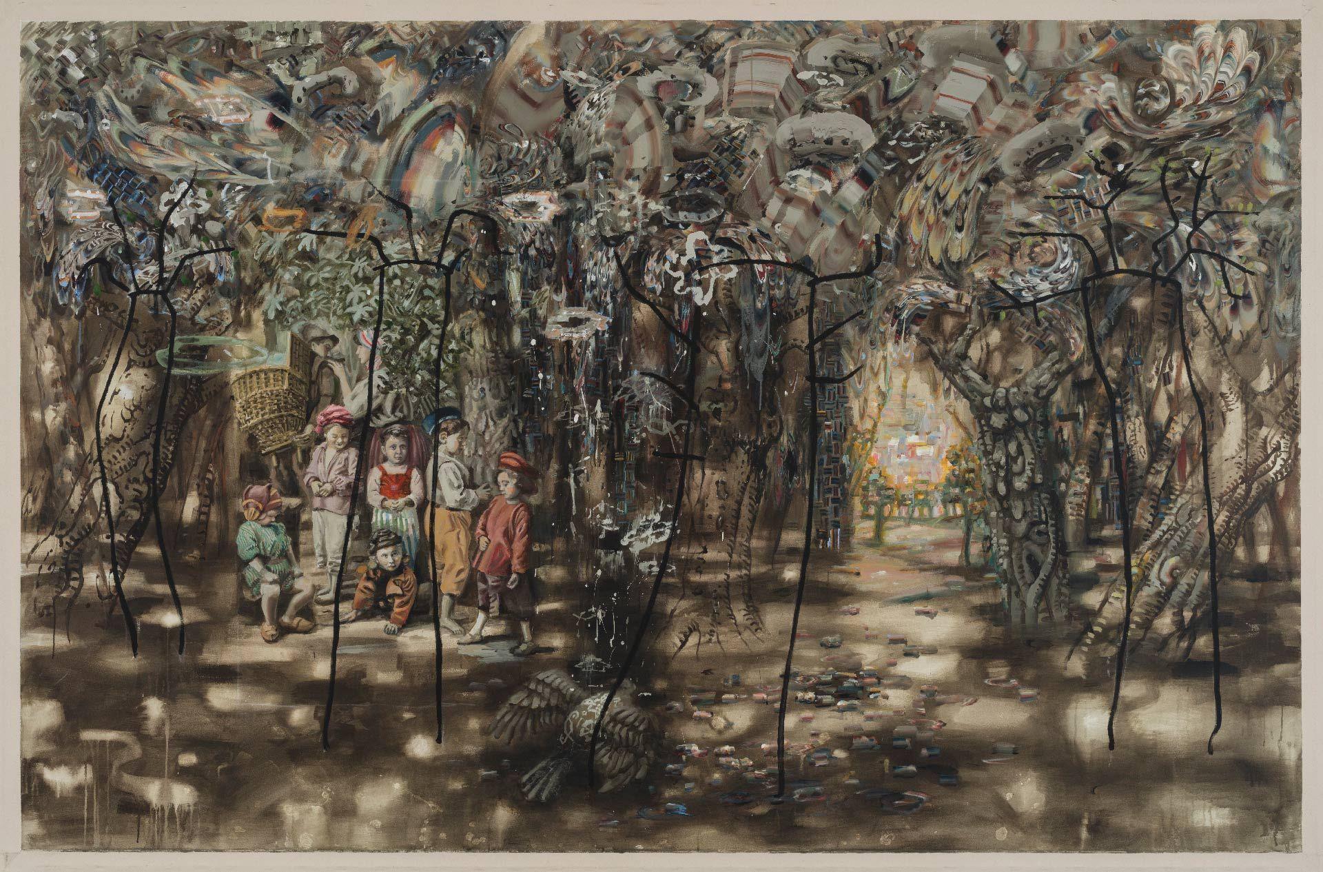 Carol Wainio (born in 1955), The Fall, 2015