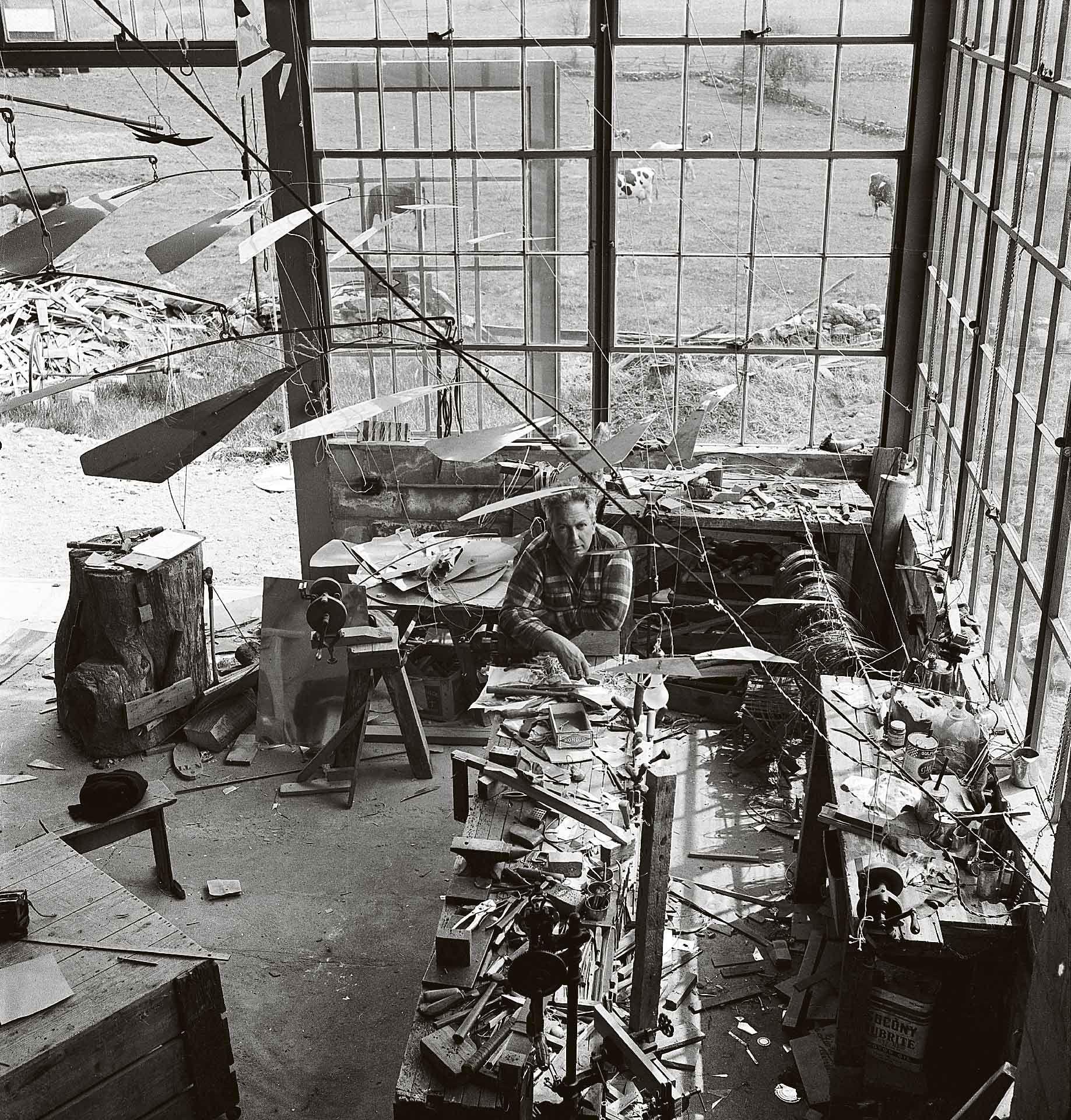 Herbert Matter (1907-1984), Calder in His Roxbury Studio, Connecticut, 1941