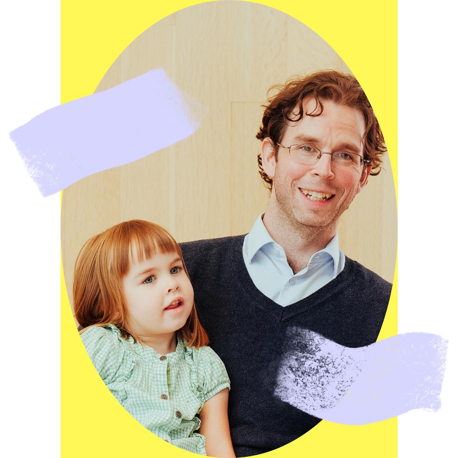 Étienne Paradis, donateur à la Fondation du Musée des beaux-arts de Montréal depuis 2017, et sa fille Constance.