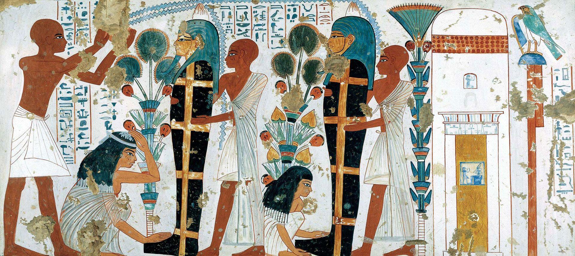 Peinture originale : tombe de Nébamon et d'Ipouky, fin de la XVIIIe dynastie