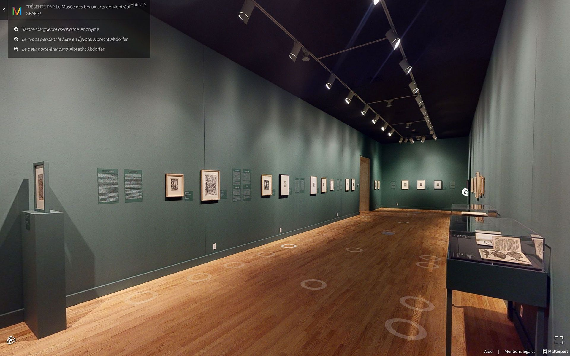 View of the virtual edition of the exhibition GRAFIK! Five Centuries of German and Austrian Graphics