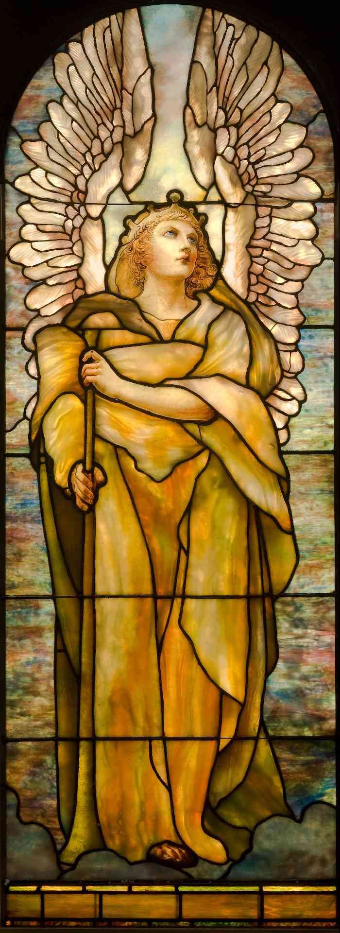Tiffany Studios, New York, L'Ange de la Résurrection, vitrail