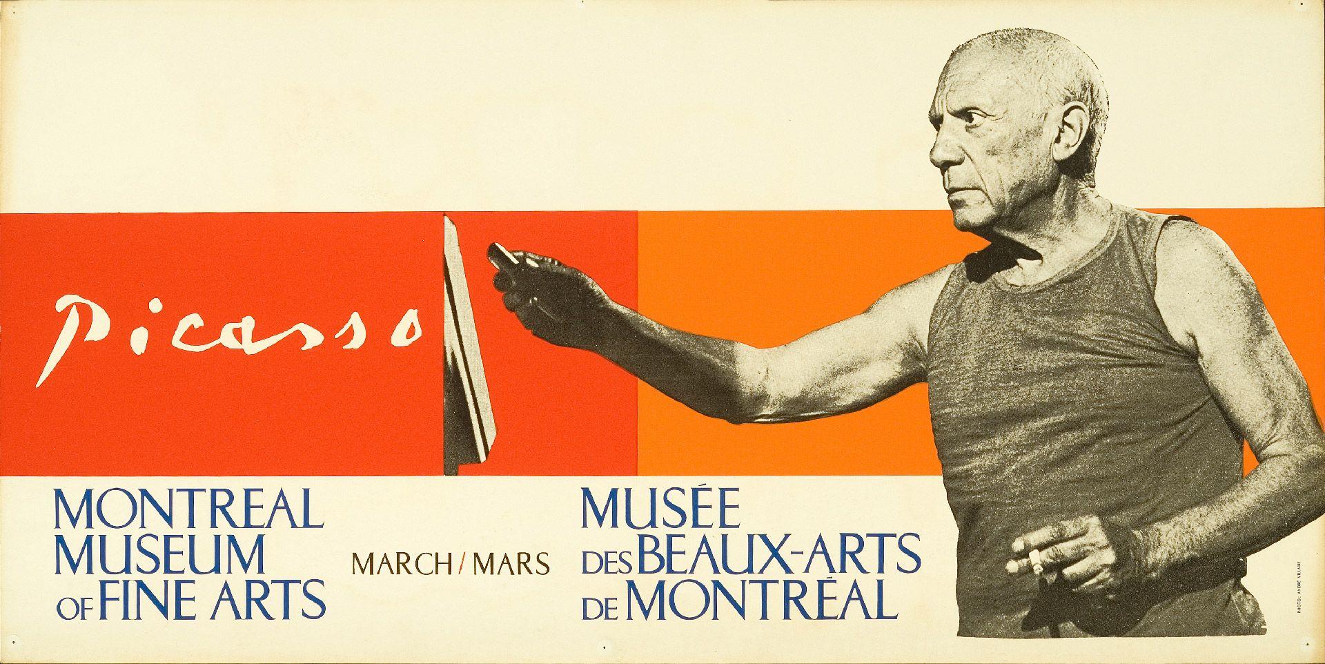 Picasso, affiche de l'exposition, 1964.