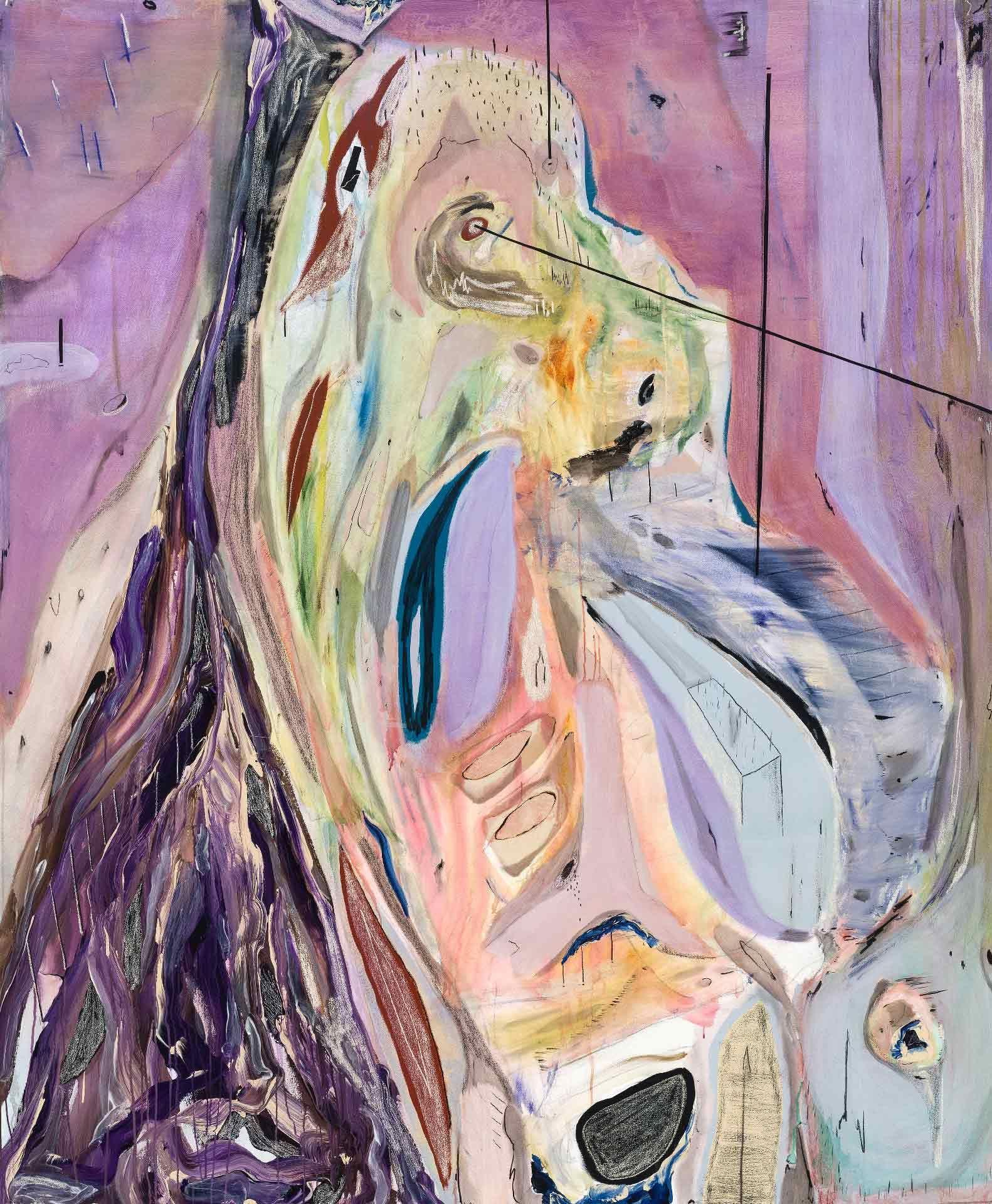 Manuel Mathieu (né en 1986), St Jak, 2018, techniques mixtes. Avec l'aimable concours de l'artiste et Kavi Gupta, Chicago. Photo Guy L'Heureux
