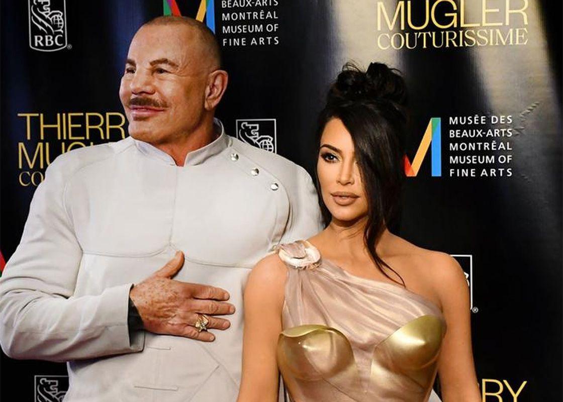 Thierry Mugler et Kim Kardashian à l'avant-première de l'expositionThierry Mugler : Couturissime du Musée des beaux-arts de Montréal