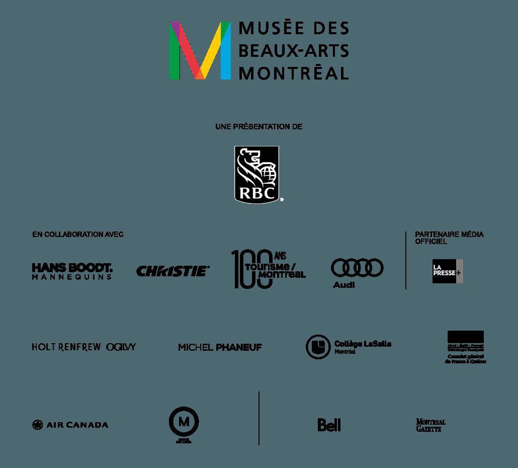 partenaires de l'exposition Thierry Mugler : Couturissime du Musée des beaux-arts de Montréal