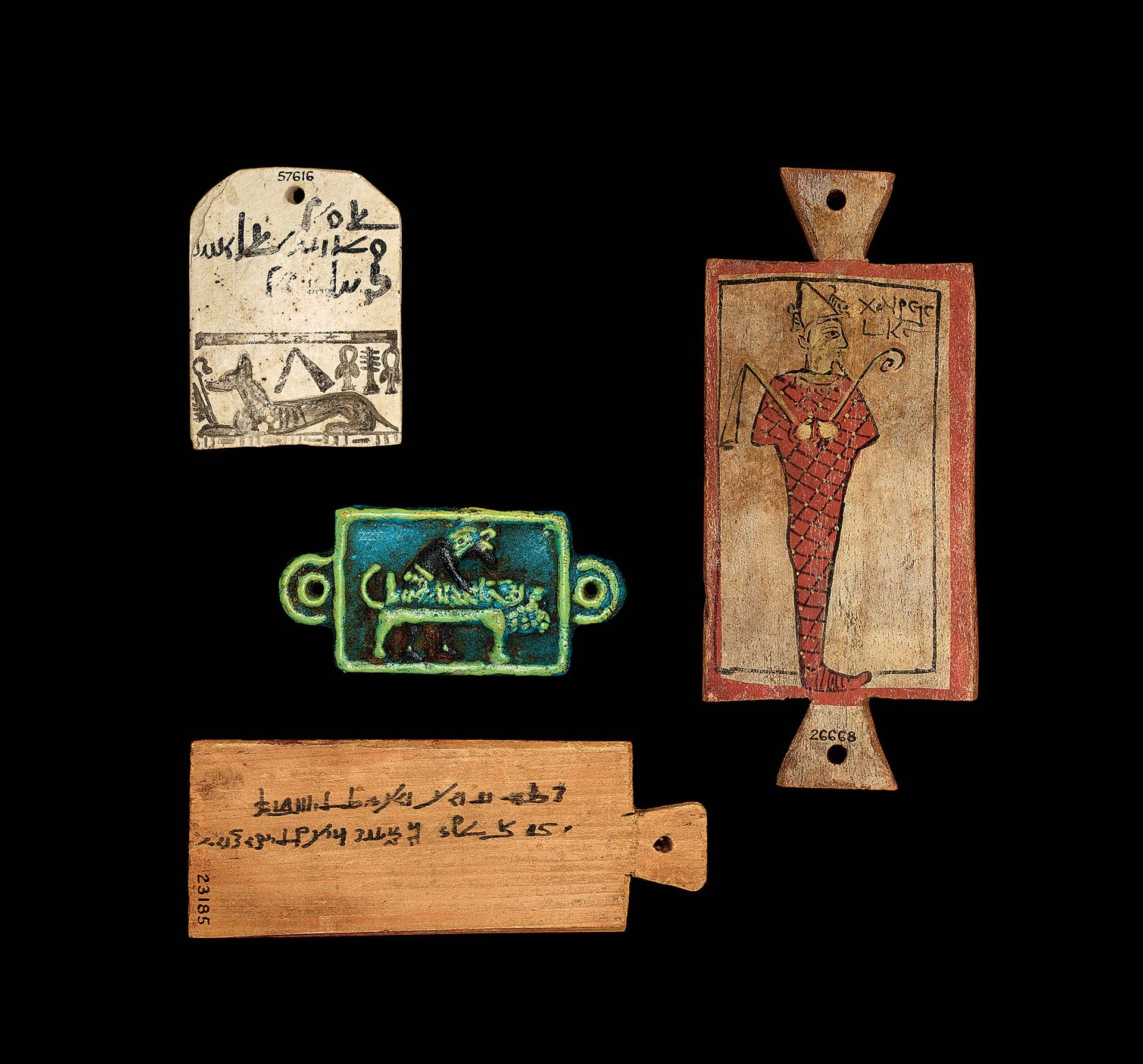 Mummy labels, various periods and provenances