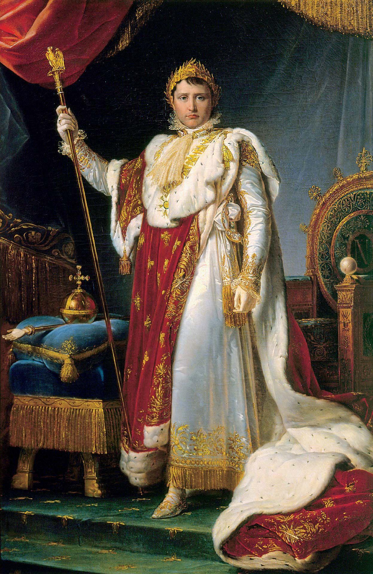 François-Pascal-Simon Gérard (1770-1837), Portrait of Napoleon, Emperor of the French, in Ceremonial Robes, 1805, oil on canvas. Château de Fontainebleau-Musée Napoléon Ier. Photo © RMN-Grand Palais / Art Resource, NY / Gérard Blot.