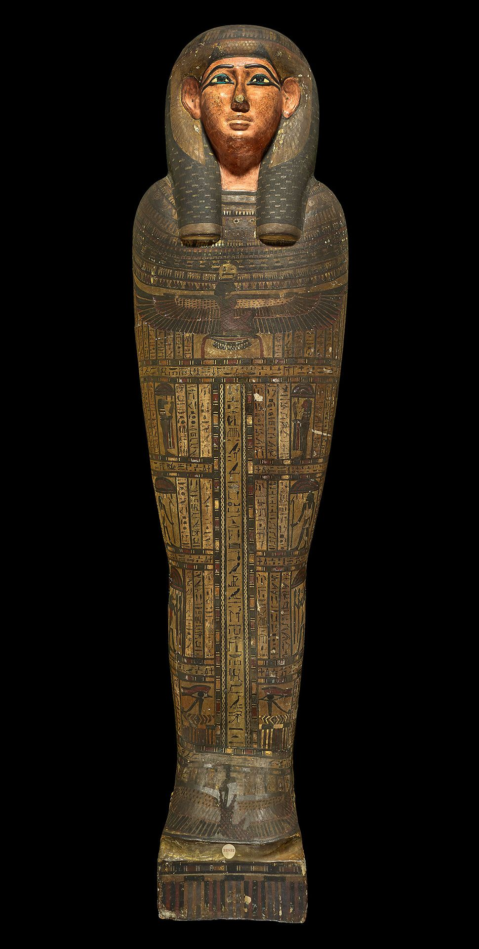Inner coffin of Nestawedjat, 25th Dynasty, about 700-680 BCE, EA 22812a. © The Trustees of the British Museum